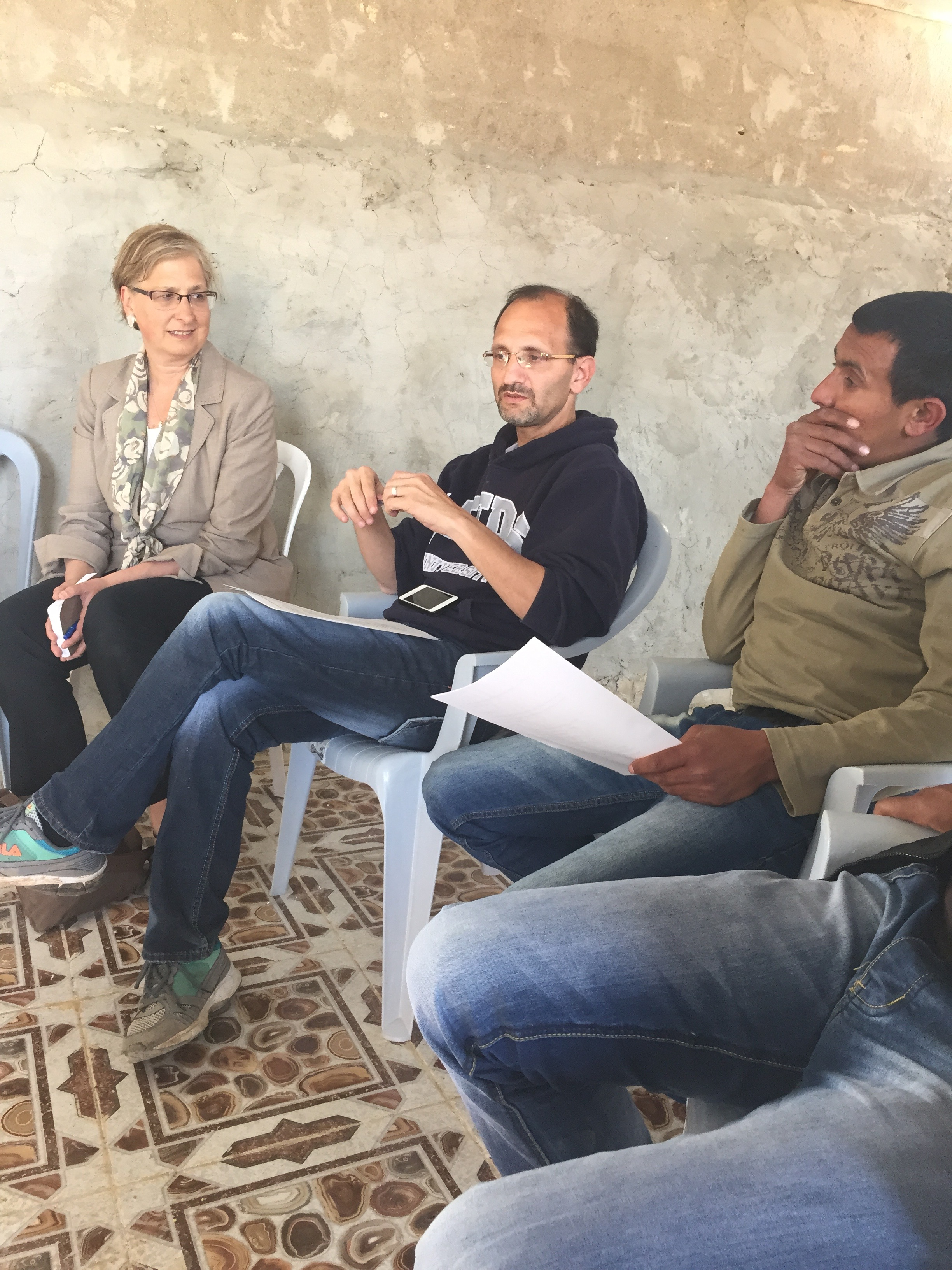 Donna Baranski-Walker meets with Hamed Qawasmeh, the Villages group, and residents of Umm al-Khayr