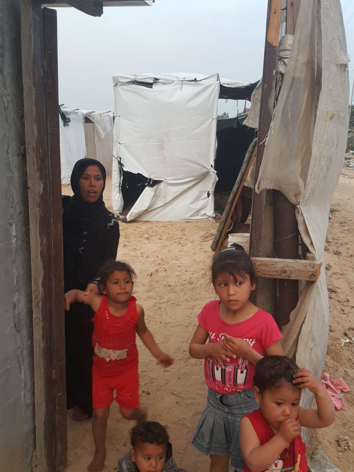 Abeer and her children.