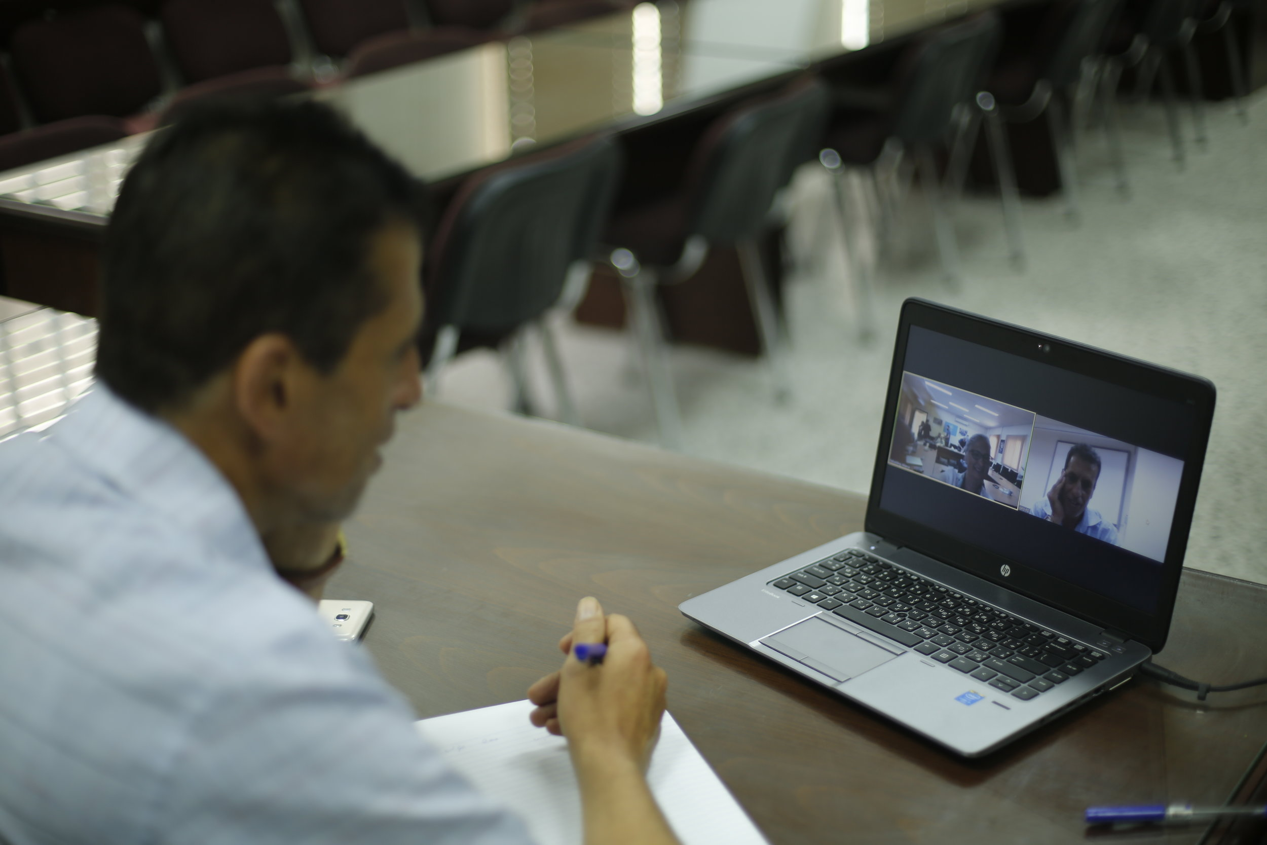 Teleconferencing from Gaza