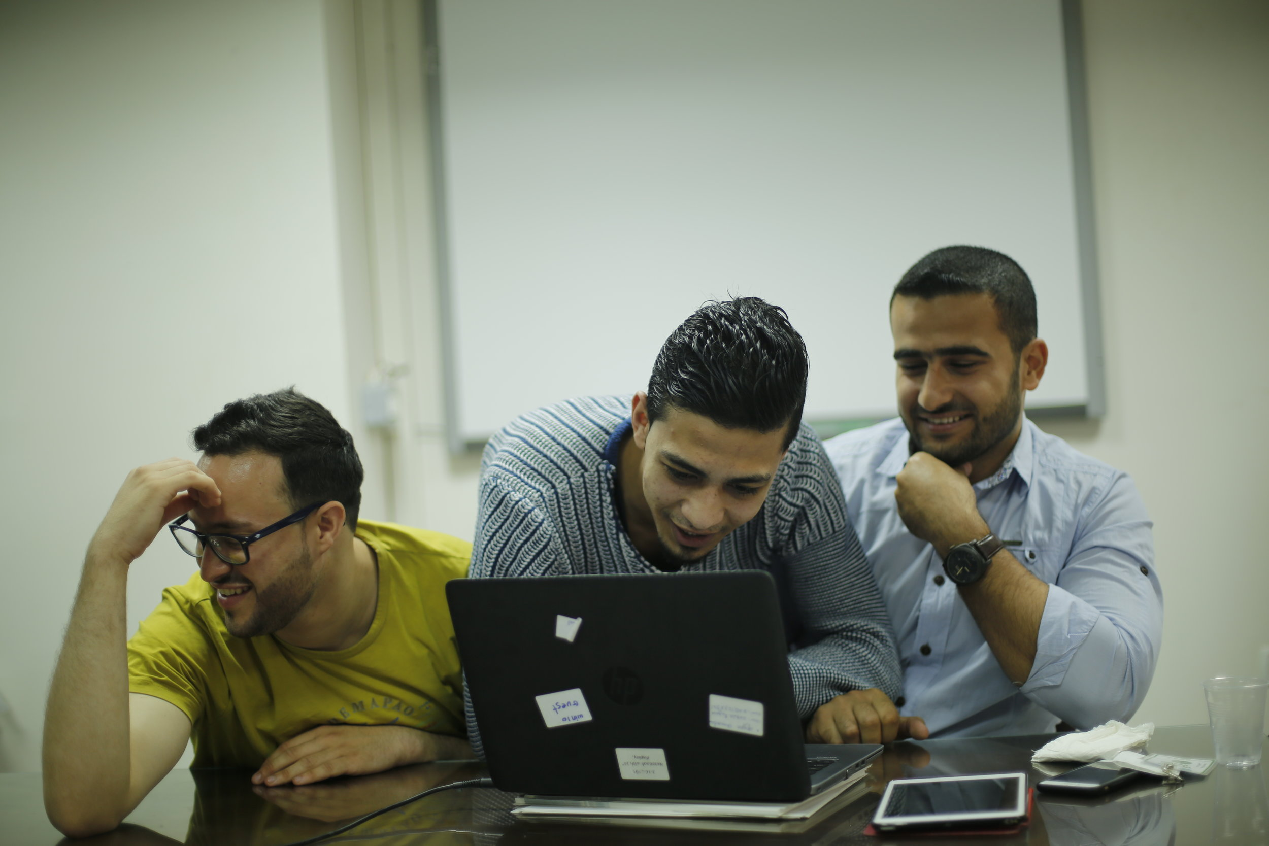 We Are Not Numbers Writers Teleconferencing with US Congressional Staffers from Gaza