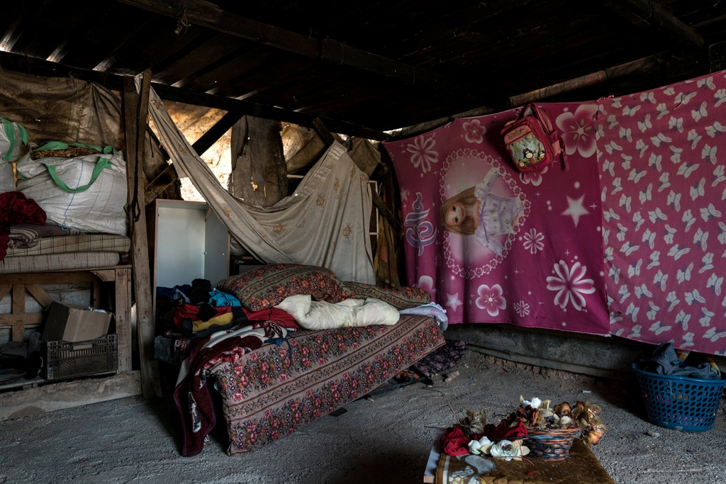 The interiors of homes in Khan al-Ahmar on July 26, 2018.