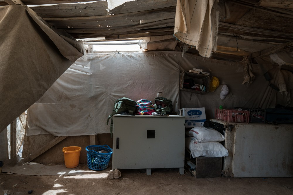The interiors of homes in Khan al-Ahmar on July 26, 2018. Photo: Samar Hazboun for The Intercept