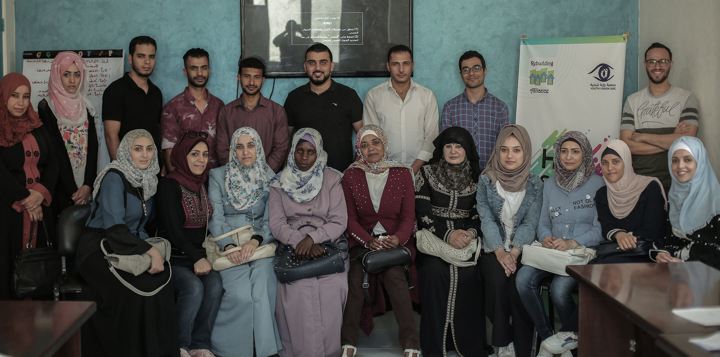 The newly trained Syrian refugees in Gaza! (Photos by Sanad Latifa)