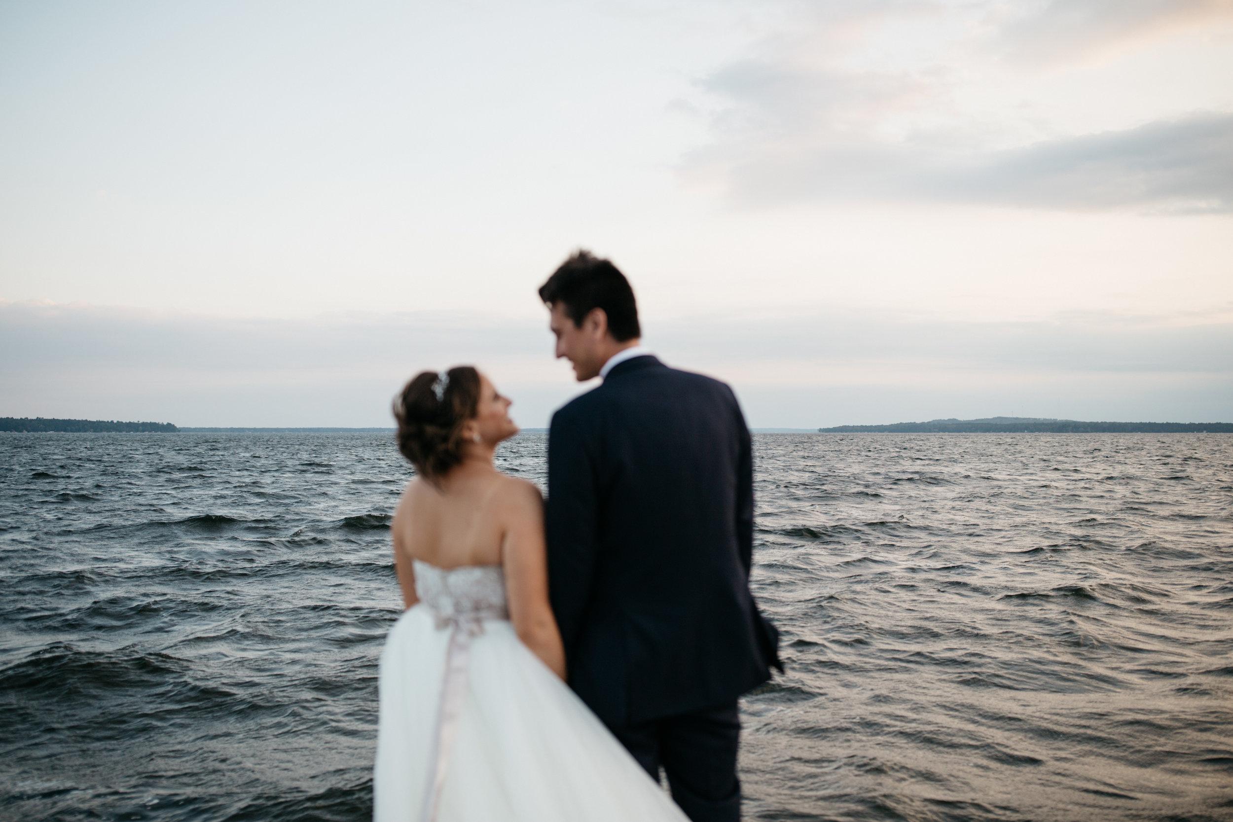 Unique wedding photography by Britt DeZeeuw at Grand View Lodge.