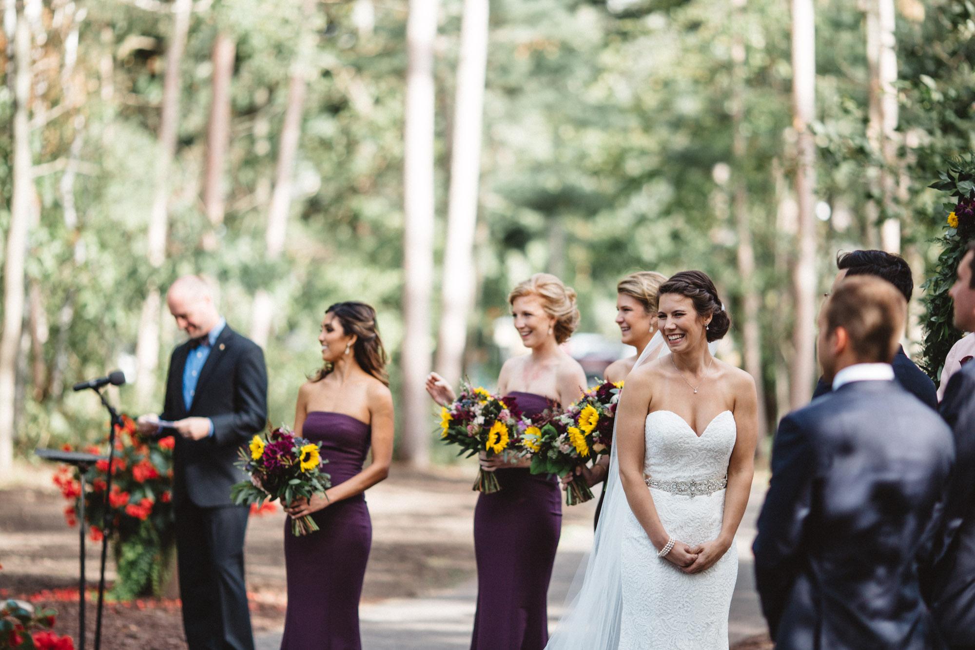 Candid wedding photography by Britt DeZeeuw, Grand View Lodge photographer.