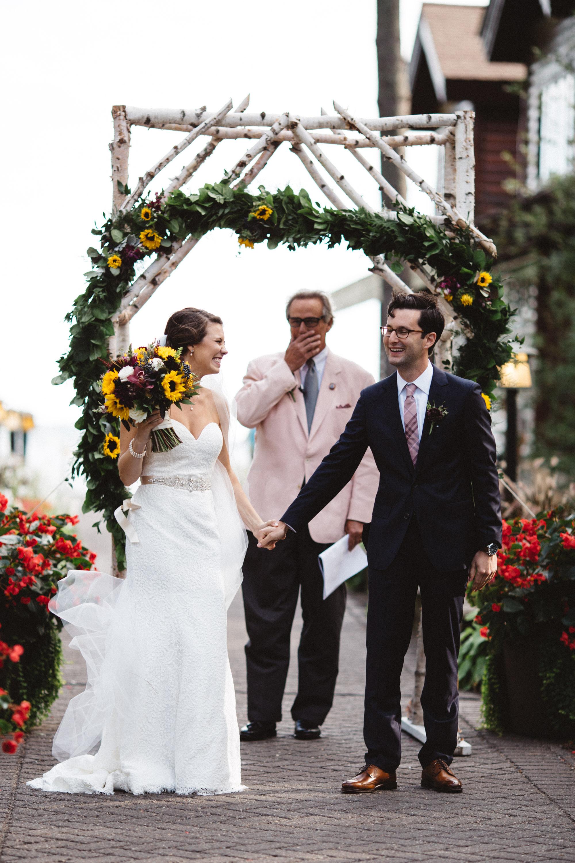 Unposed wedding photography by Britt Dezeeuw, Grand View Lodge photographer.
