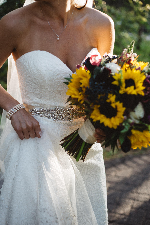 Alternative style bridal portrait by Britt DeZeeuw photography, Grand View Lodge wedding photographer