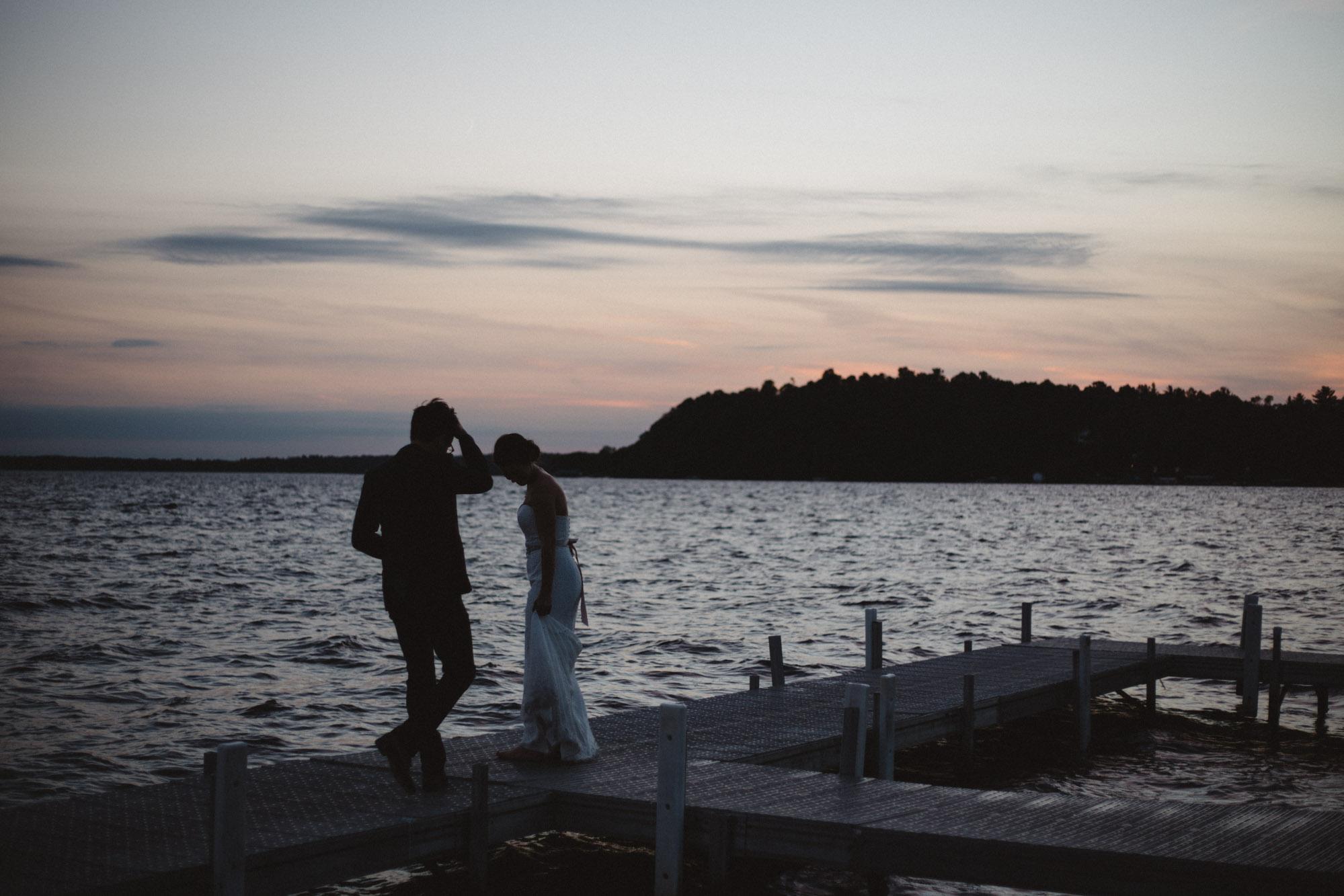 Artistic, moody, wedding photography on Gull Lake at Grand View Lodge in Nisswa Minnesota by Britt DeZeeuw