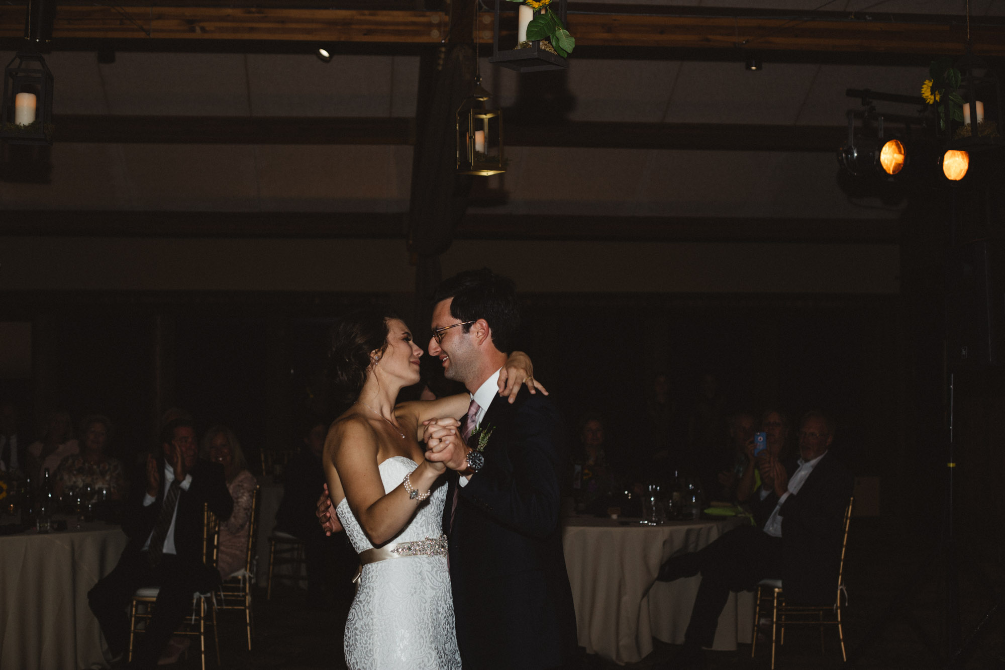 Bride and groom first dance at Grand View Lodge. Wedding photography by Britt DeZeeuw.