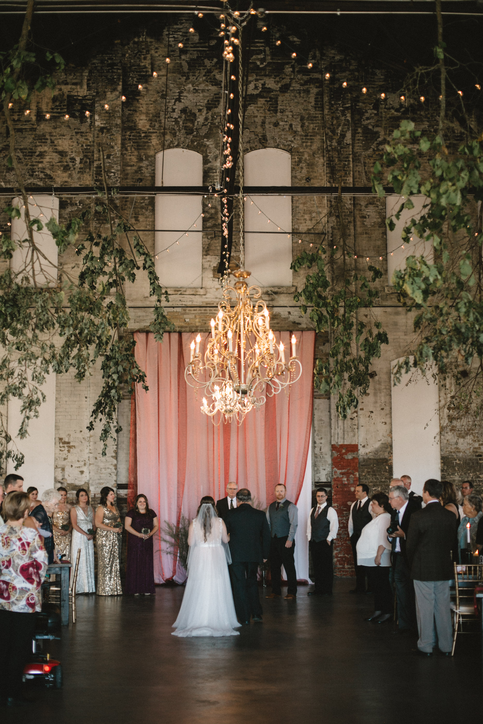 Enchanted forest wedding theme at the NP Event Space, photography by Britt DeZeeuw