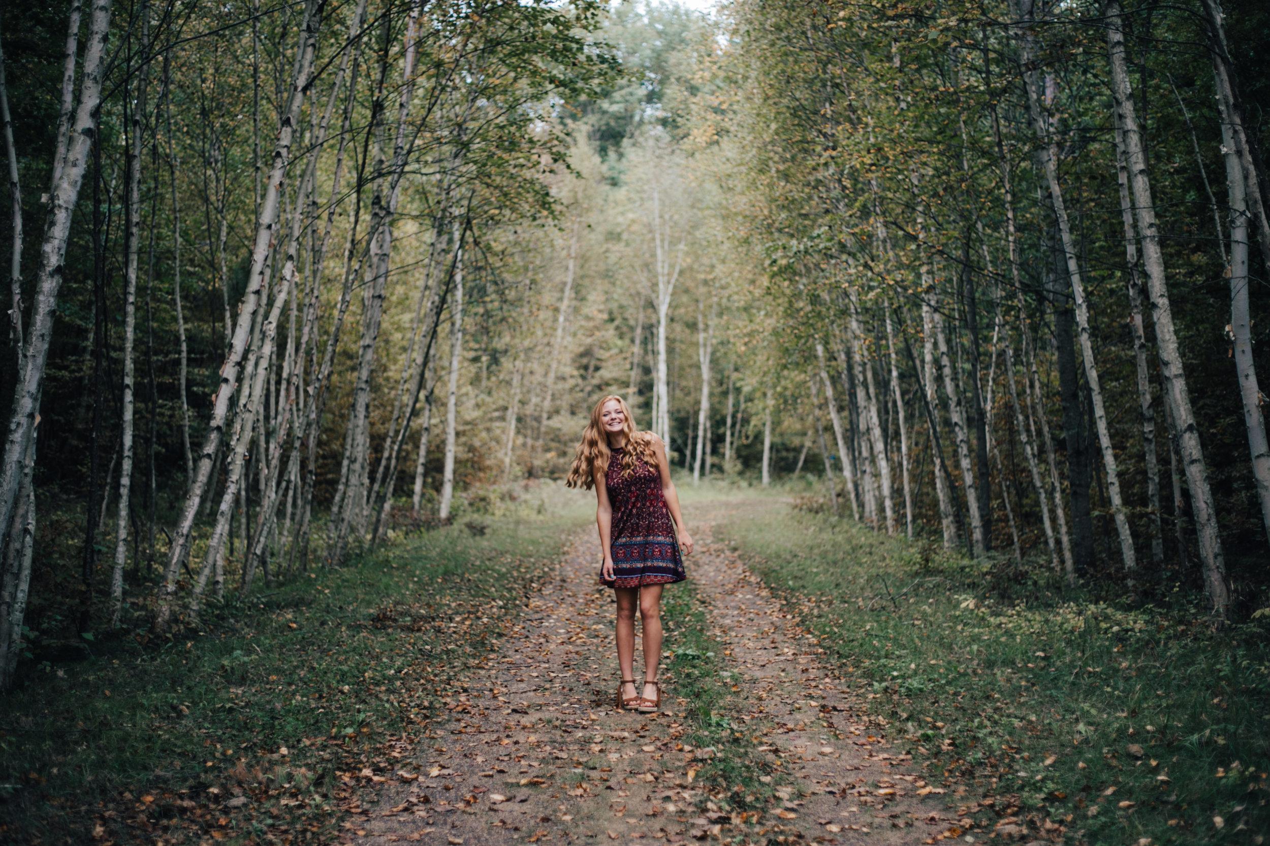 Unique high school senior portrait by Britt DeZeeuw, Brainerd Minnesota photographer