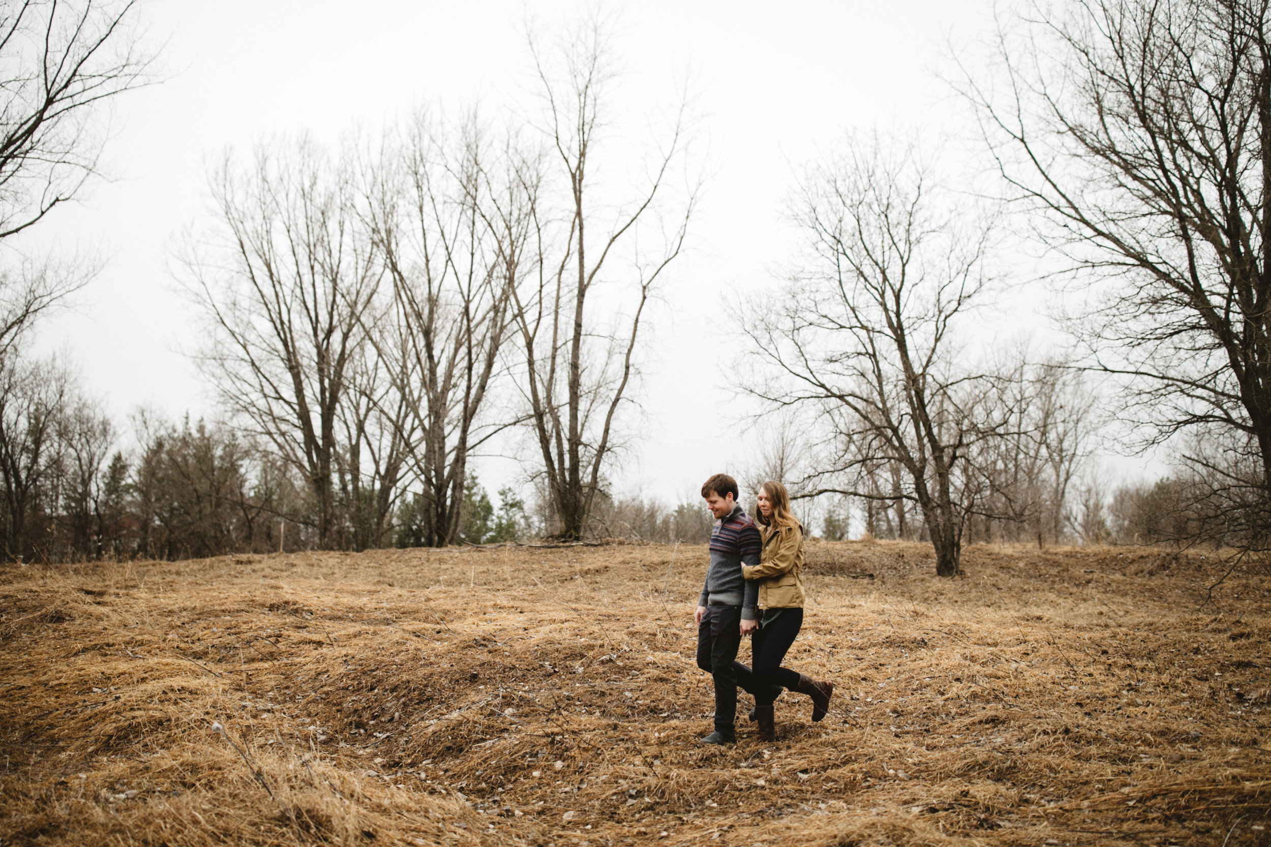Natural and organic engagement photography at the Northland Arboretum in Brainerd Minnesota, photographed by Britt DeZeeuw