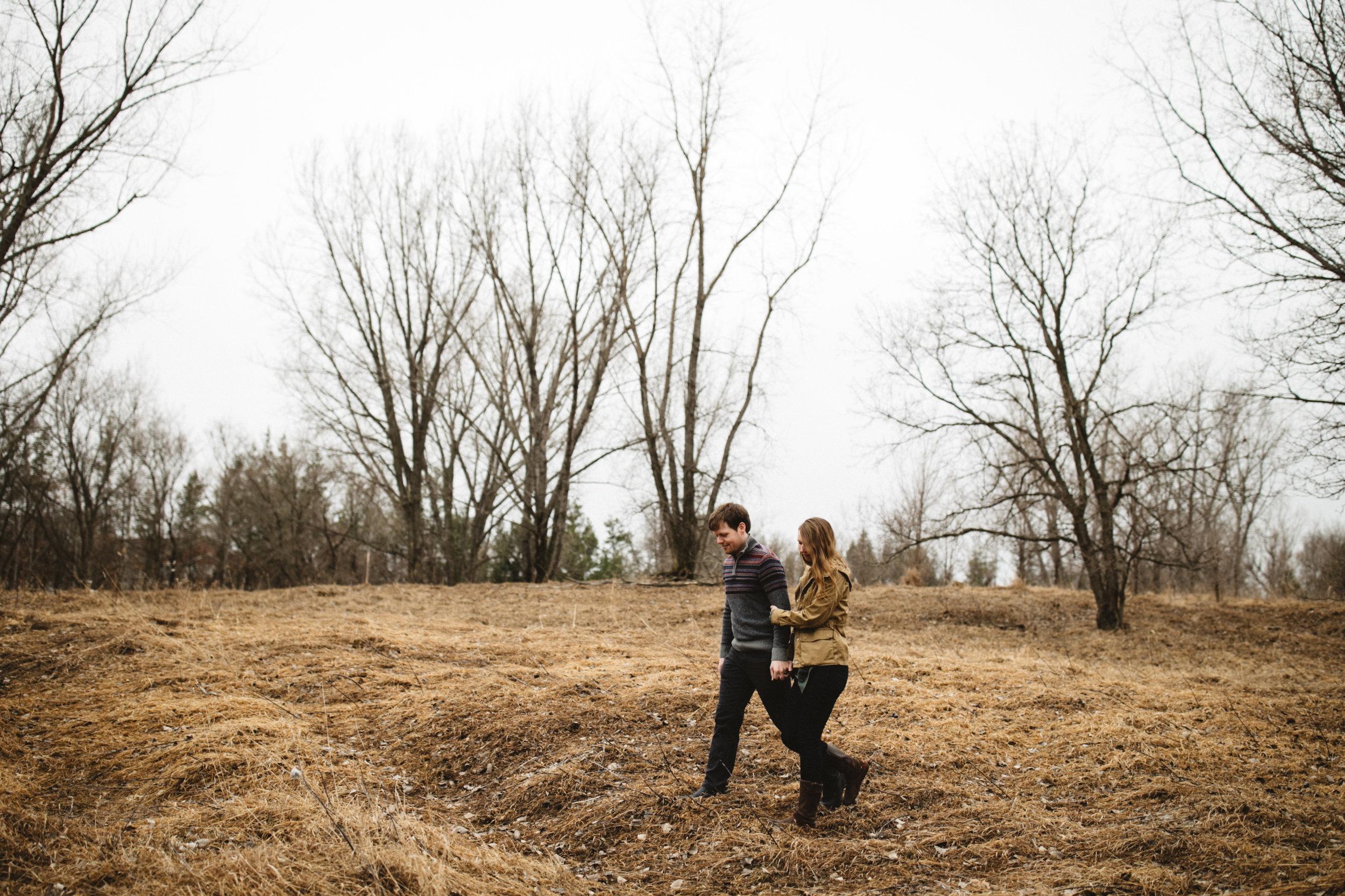 Photojournalistic engagement photography at the Northland Arboretum in Brainerd Minnesota by Britt DeZeeuw
