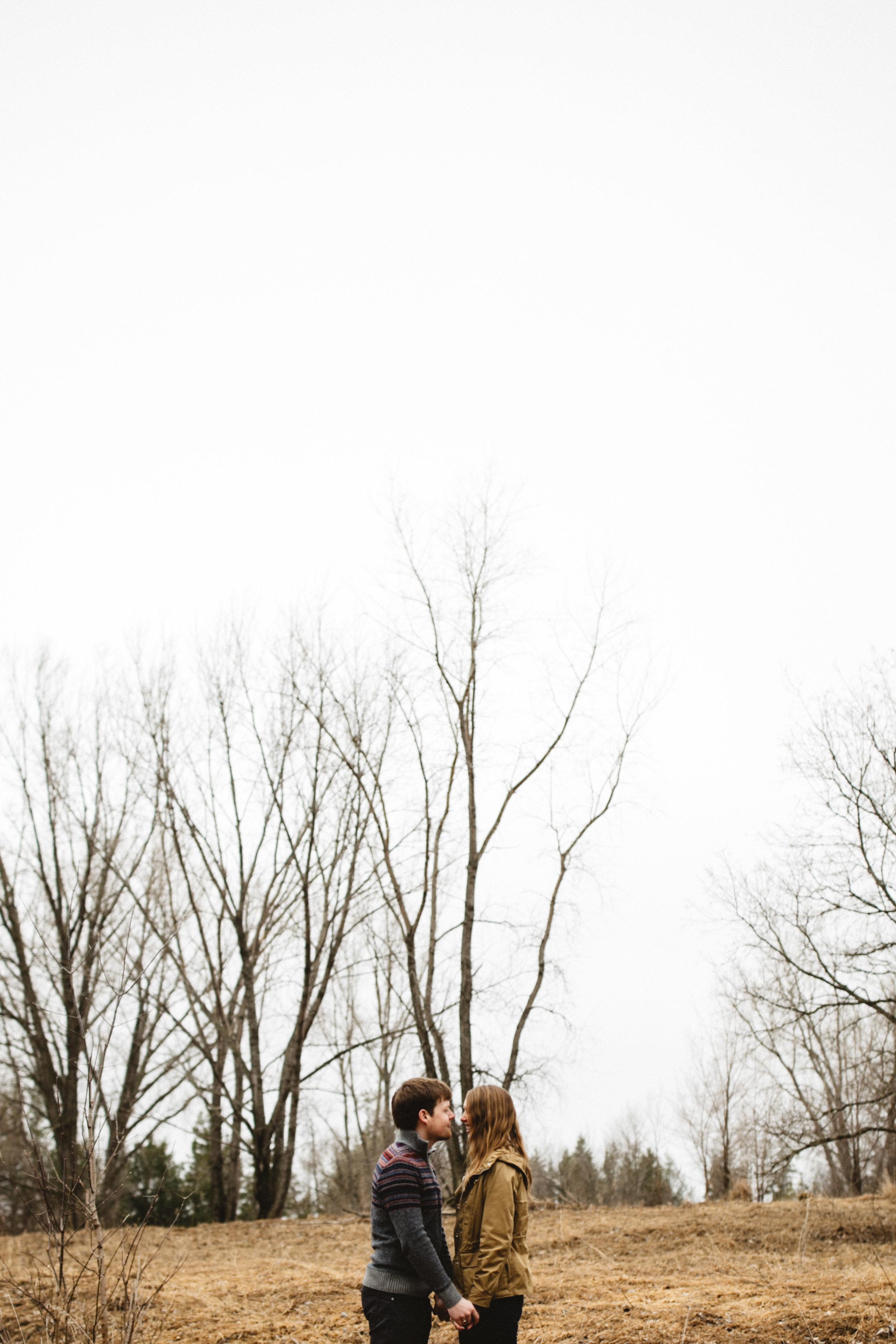 Engagement at the Northland Arboretum in Brainerd Minnesota photographed by Britt DeZeeuw