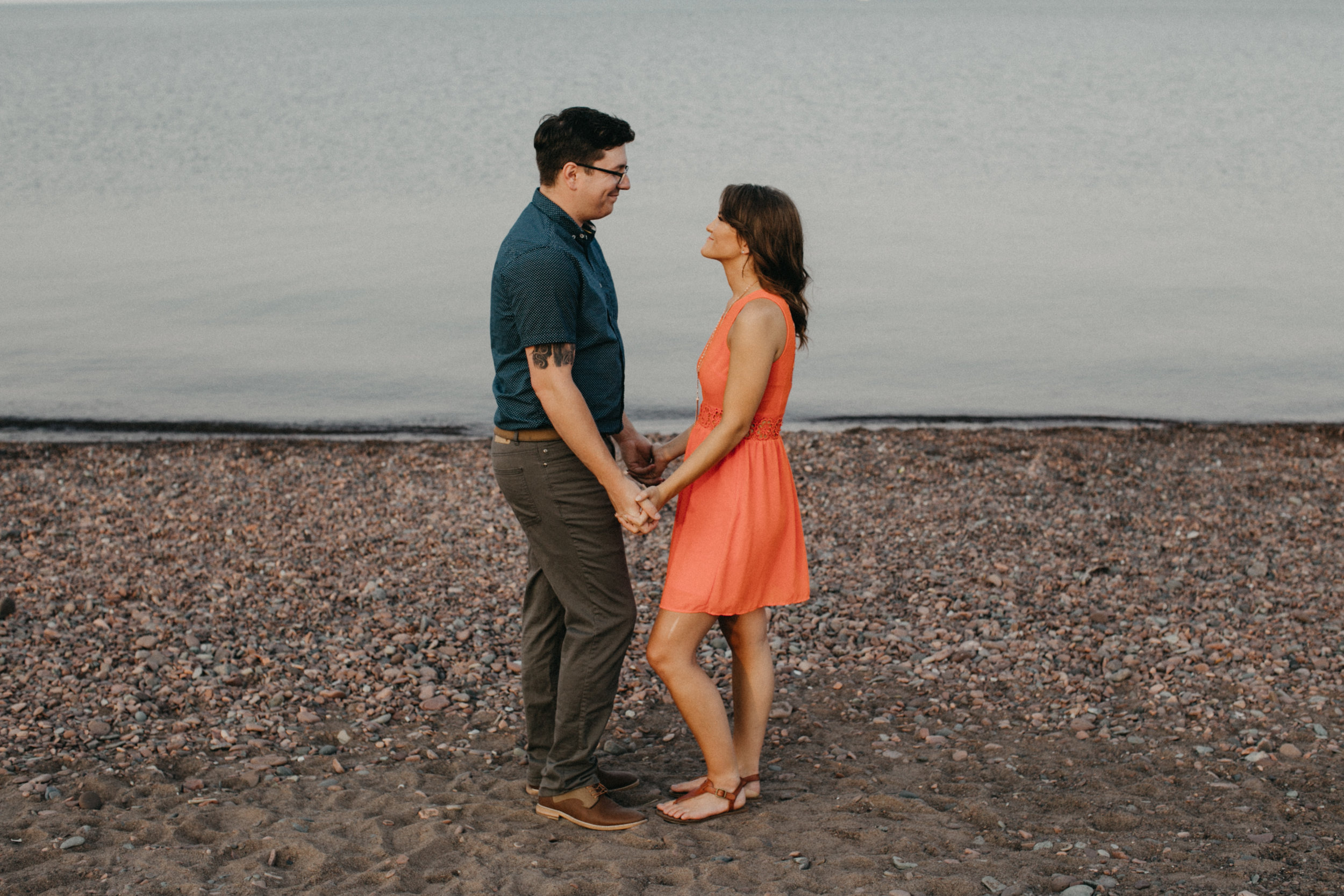 North shore engagement session in Duluth Minnesota