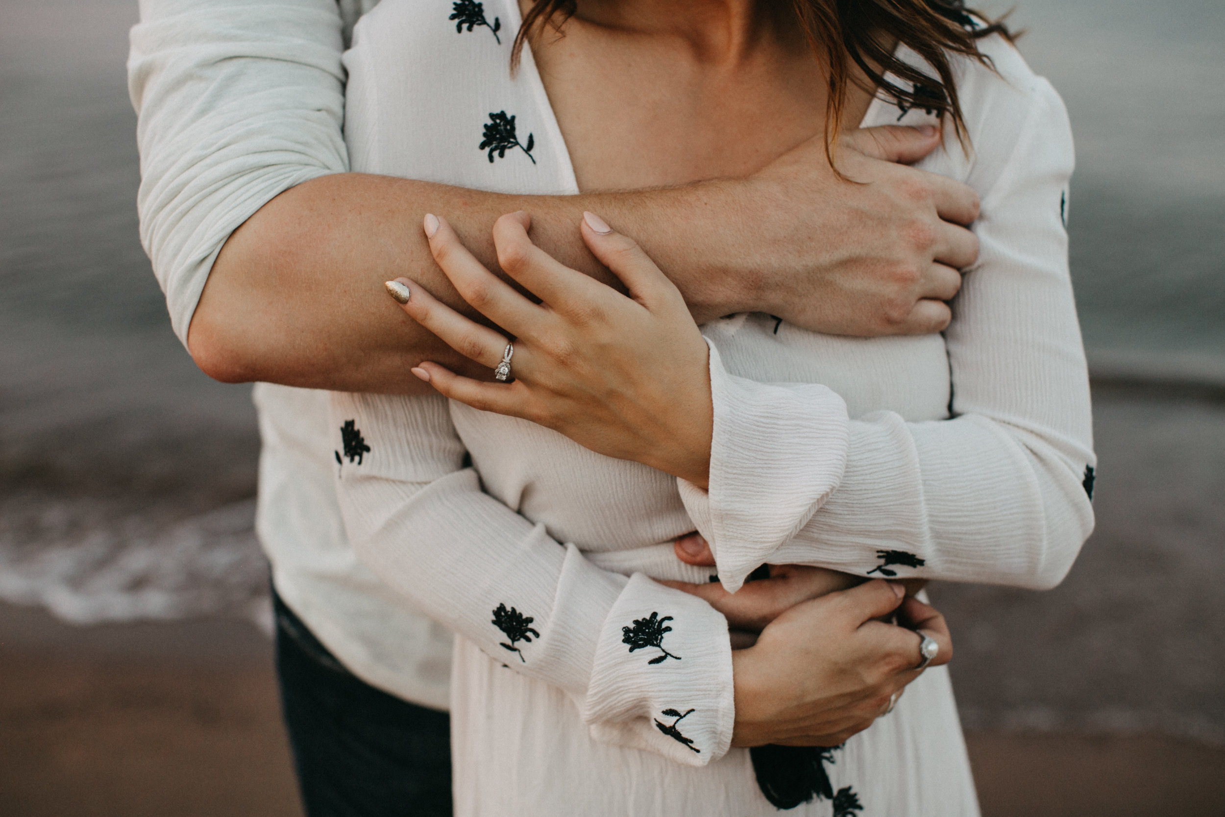 Intimate fine art engagement photography on the north shore of Minnesota