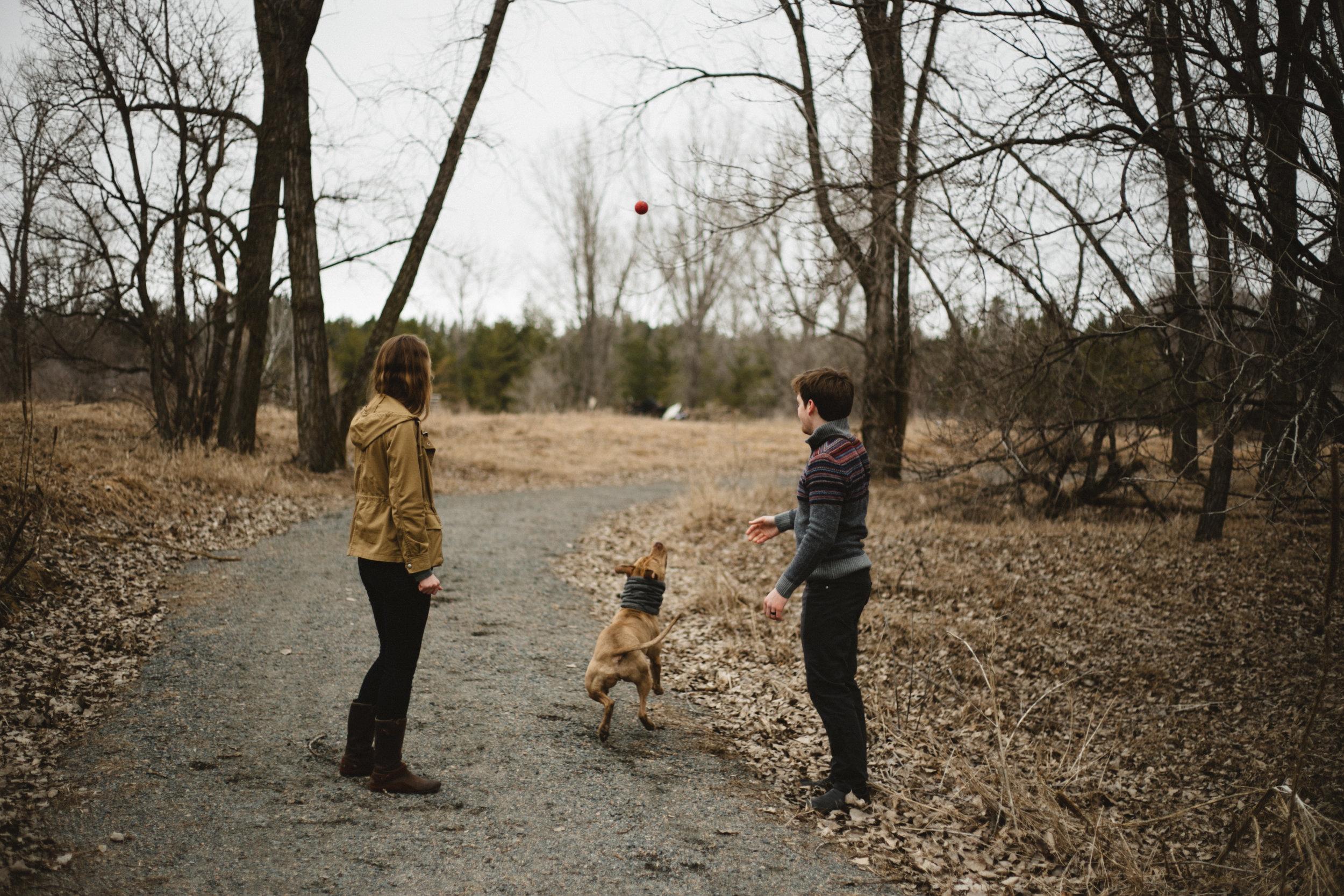 Documentary engagement session in Brainerd Minnesota, photographed by wedding photographer Britt DeZeeuw photography