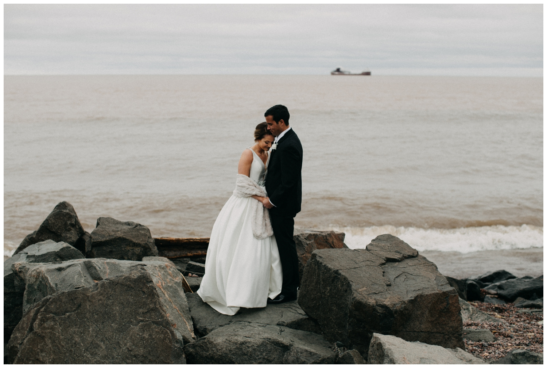 Romantic north shore wedding in Duluth Minnesota