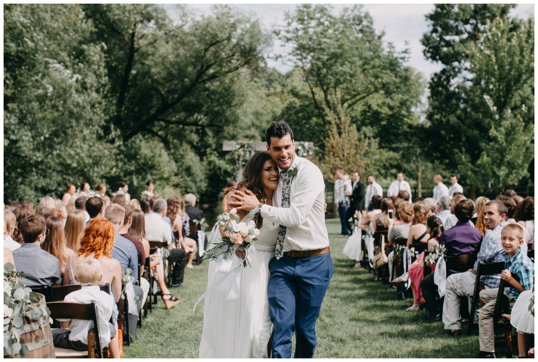 Outdoor summer wedding at Creekside Farm in Minnesota