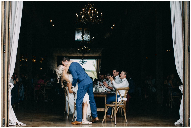 Elegant barn wedding reception at Creekside Farm photographed by Britt DeZeeuw
