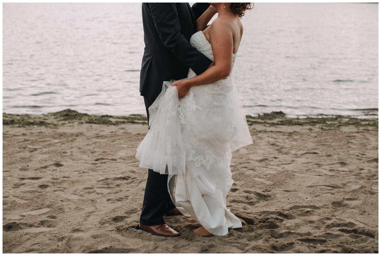Gull Lake Minnesota summer wedding on the beach