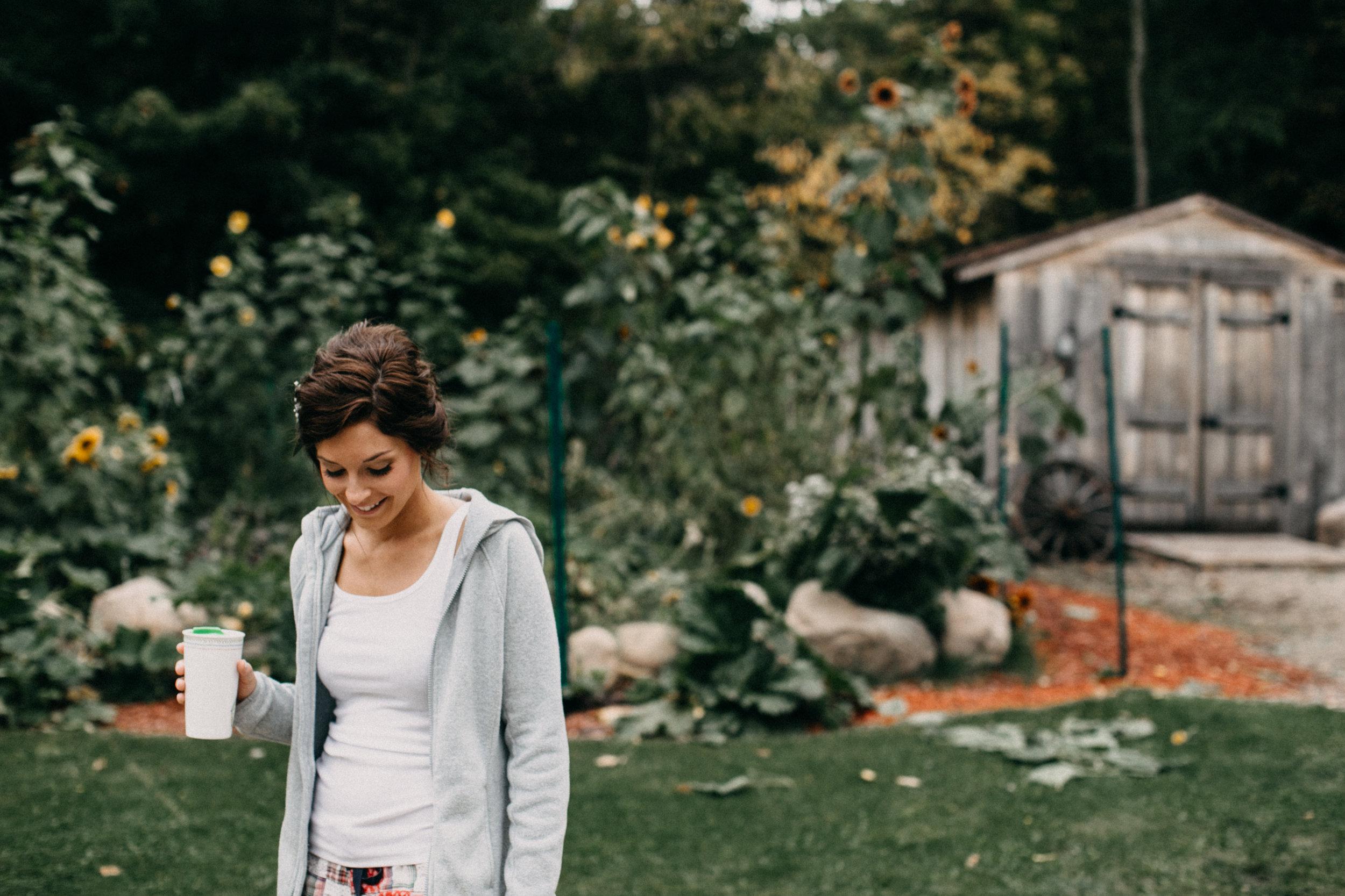 Brainerd Minnesota intimate backyard wedding