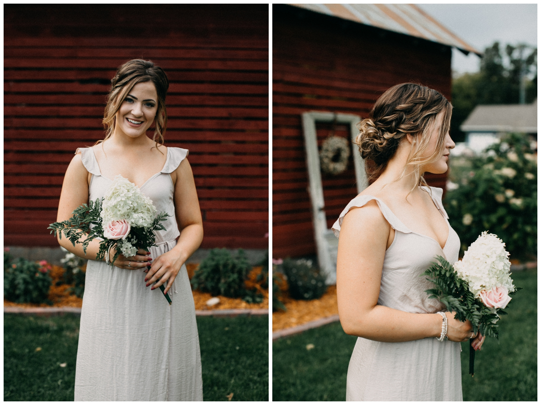 Backyard September barn wedding in Brainerd Minnesota