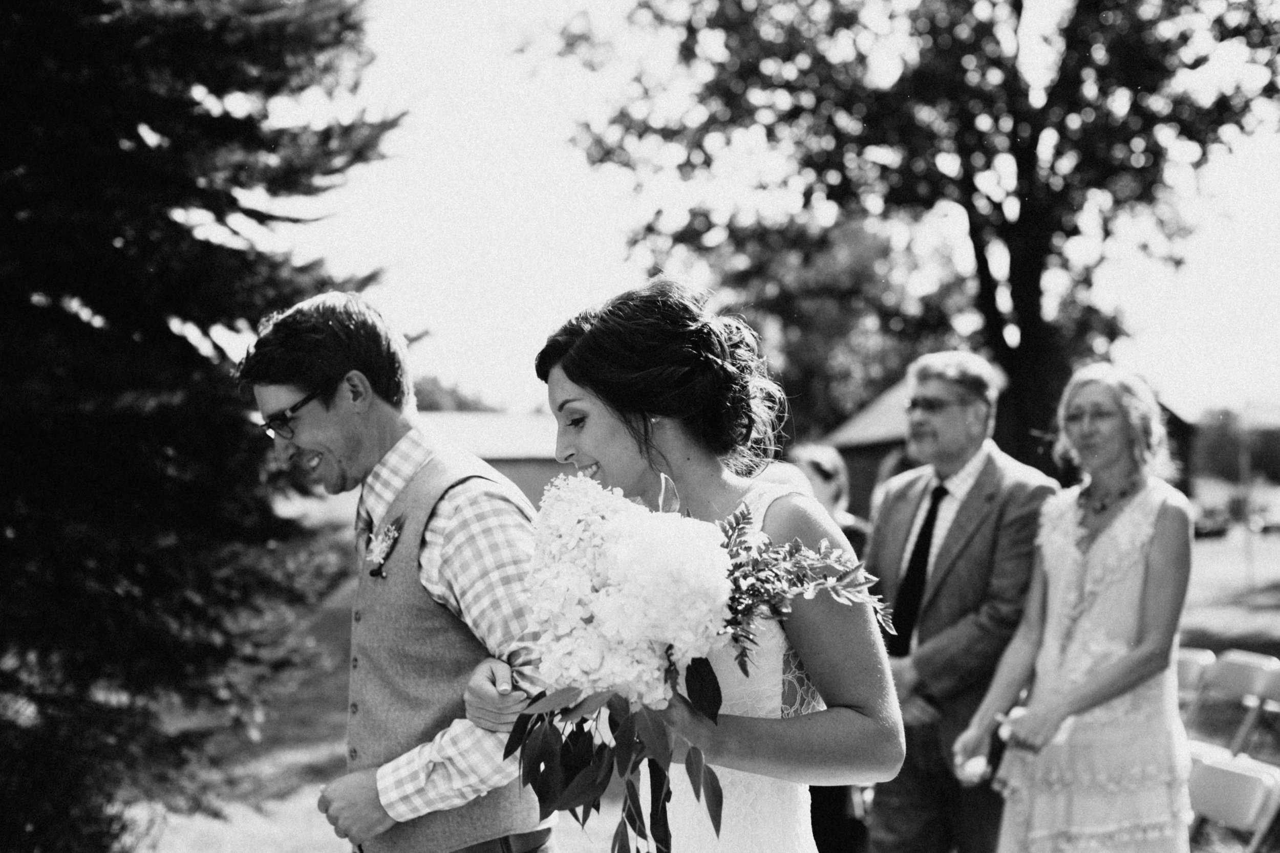 Backyard Wedding in northern Minnesota