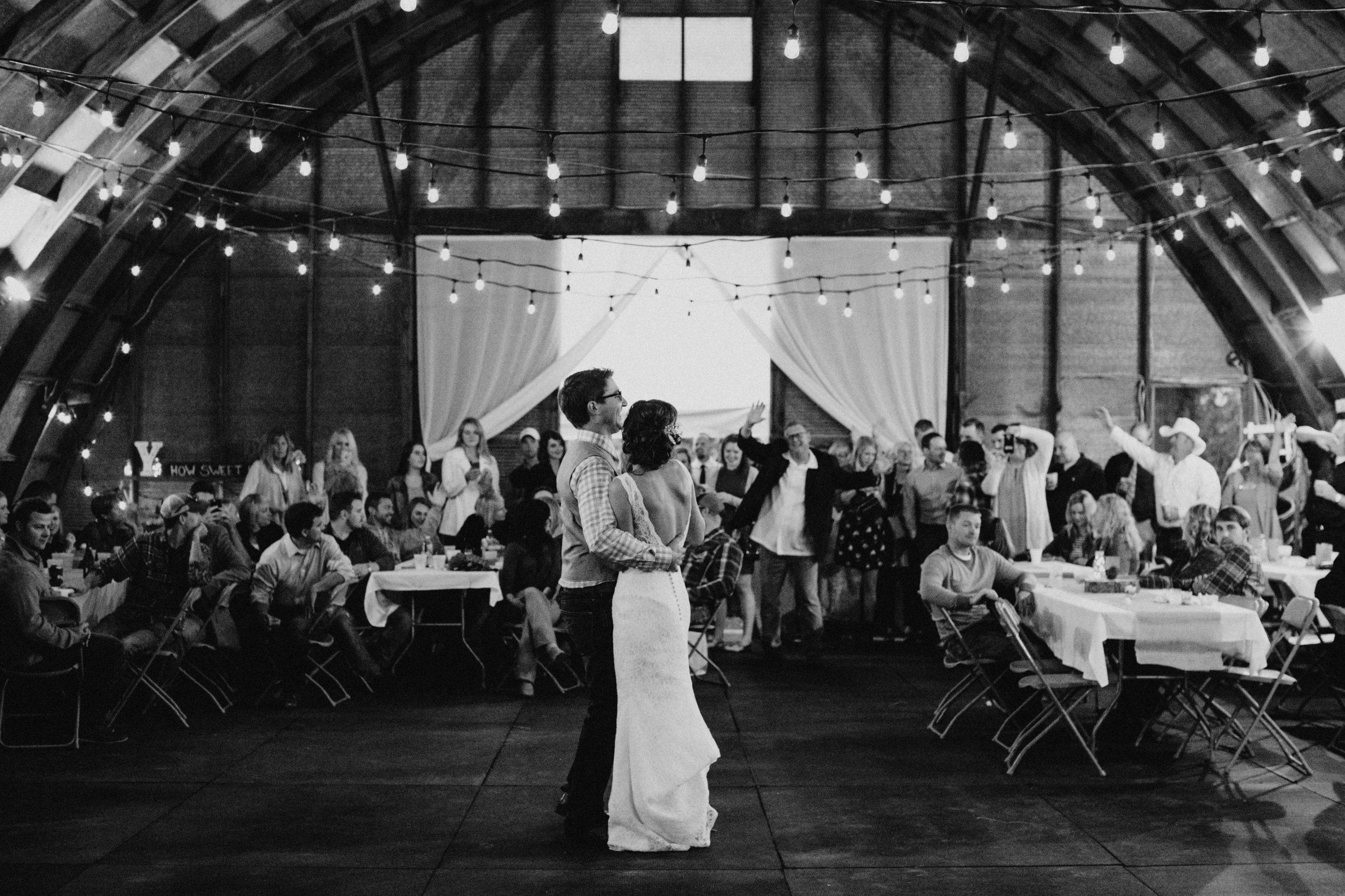 Rustic chic barn wedding reception in Brainerd MN