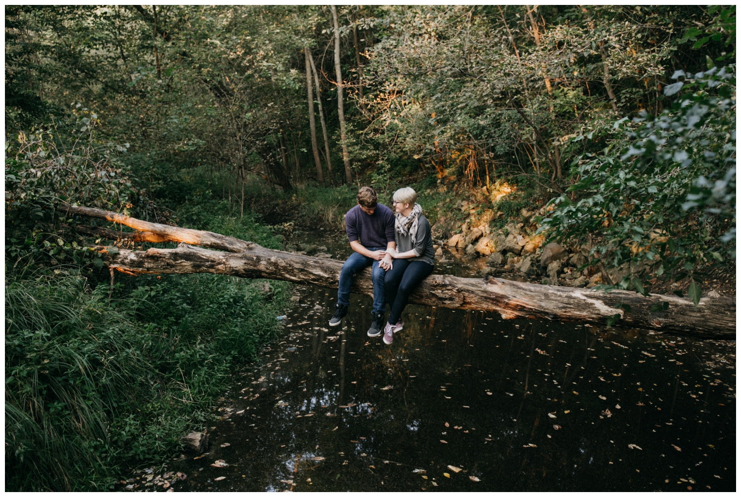 Casual and cool MN summer engagement session
