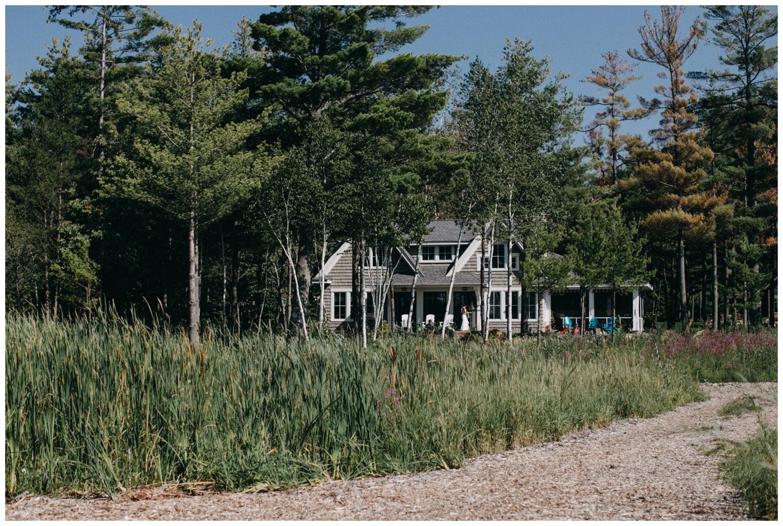 Cabin on lake Edward wedding