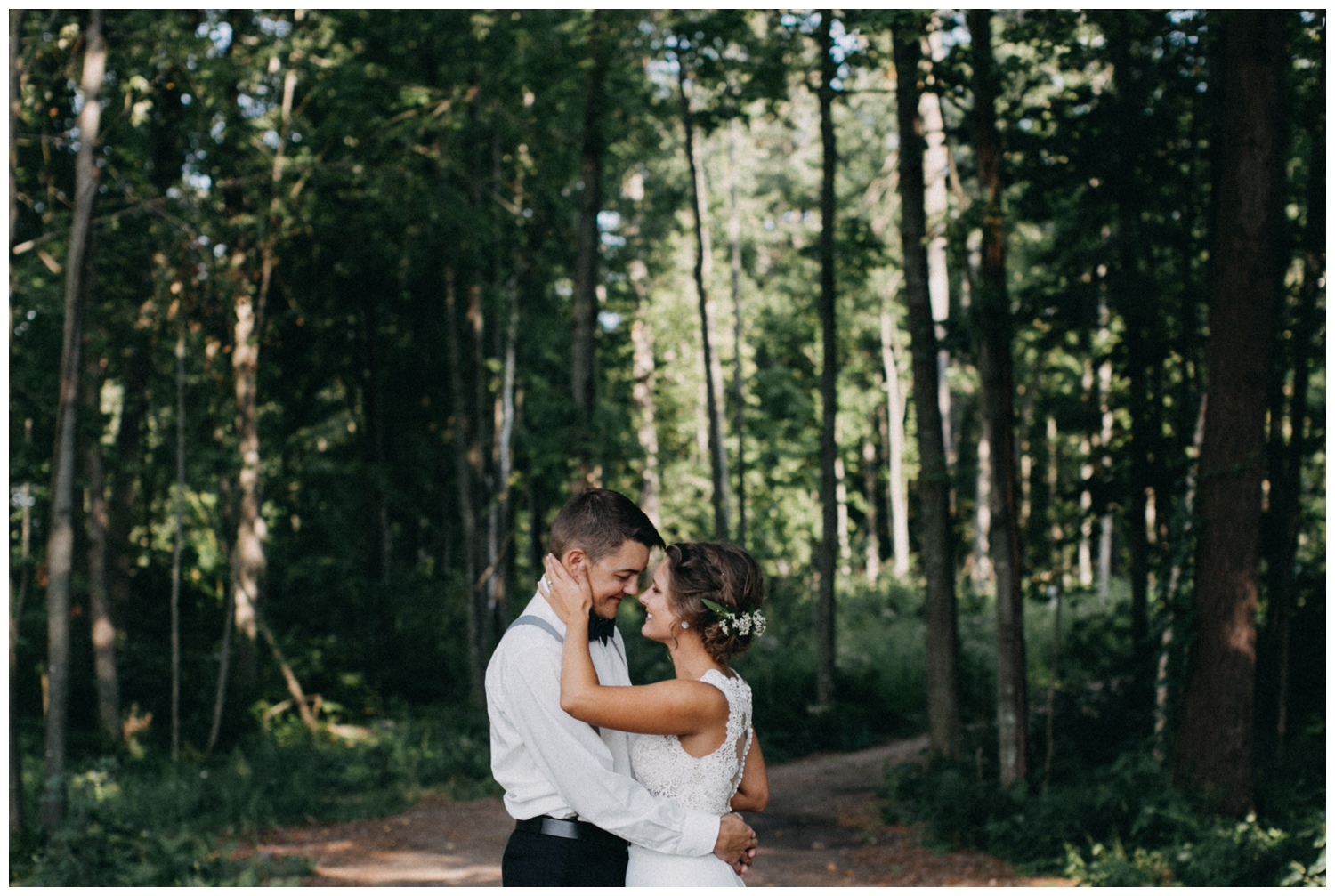 Intimate cabin wedding in northern MN