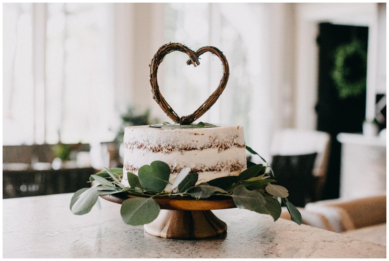 Home made carrot wedding cake at Lake Edward Cottage wedding