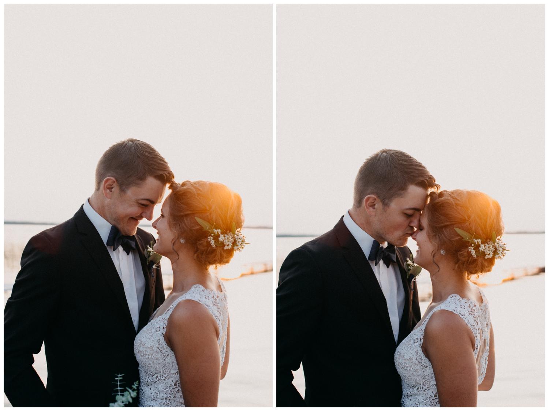 Romantic sunset wedding on the beach photographed by Britt DeZeeuw