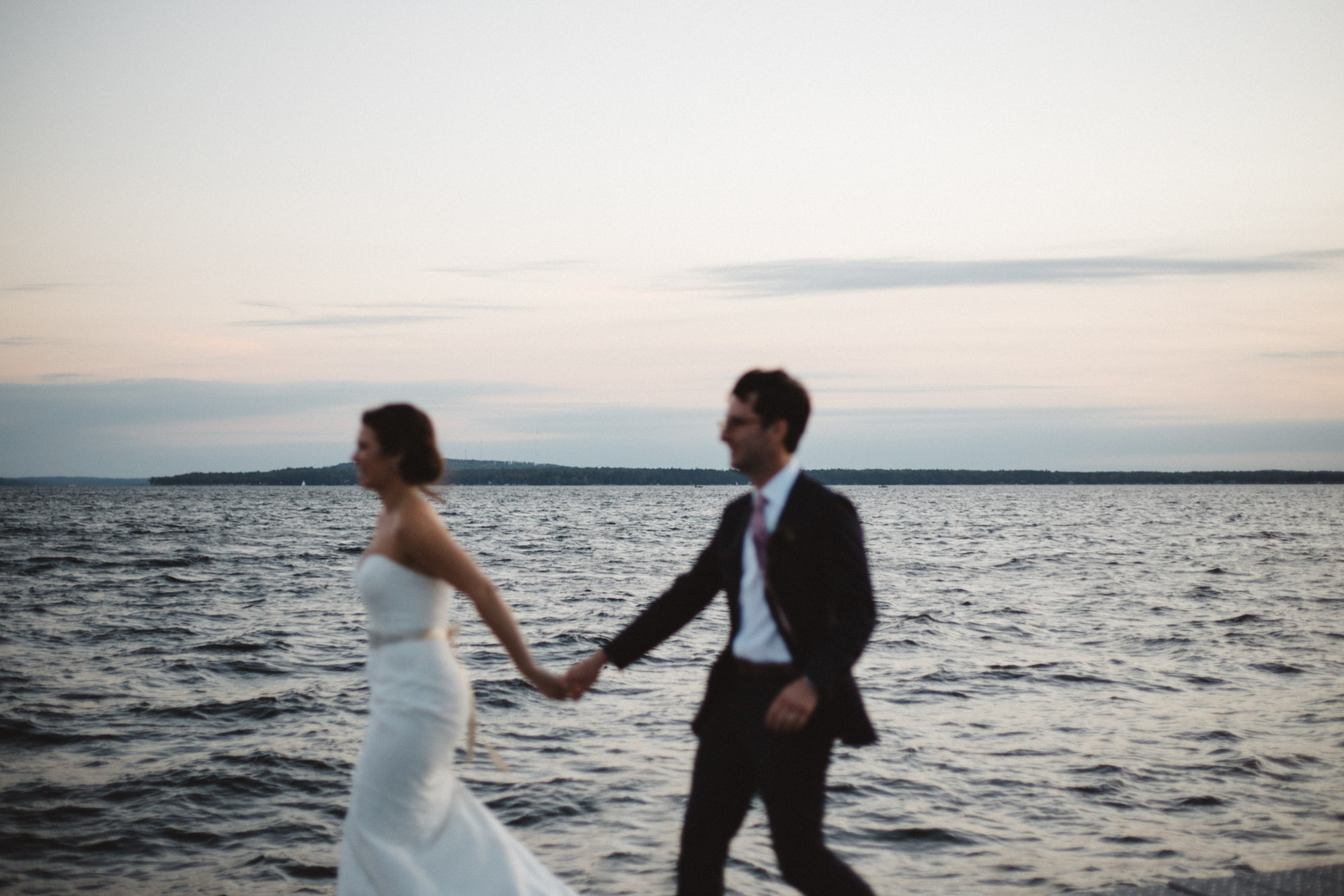 Artistic wedding photography on Gull Lake in Brainerd Minnesota