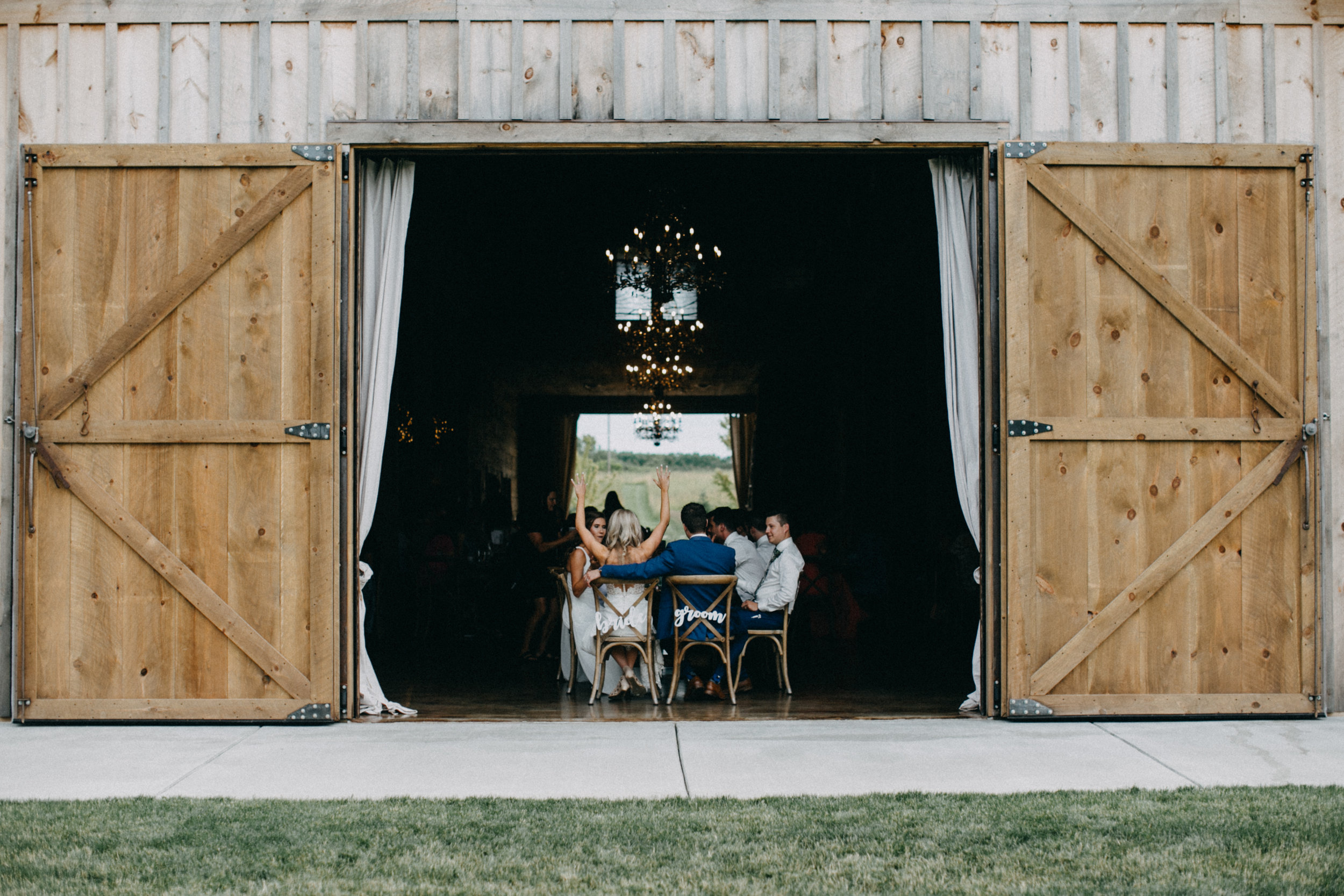 Wedding reception at Creekside Farm in Rush City photographed by Britt DeZeeuw