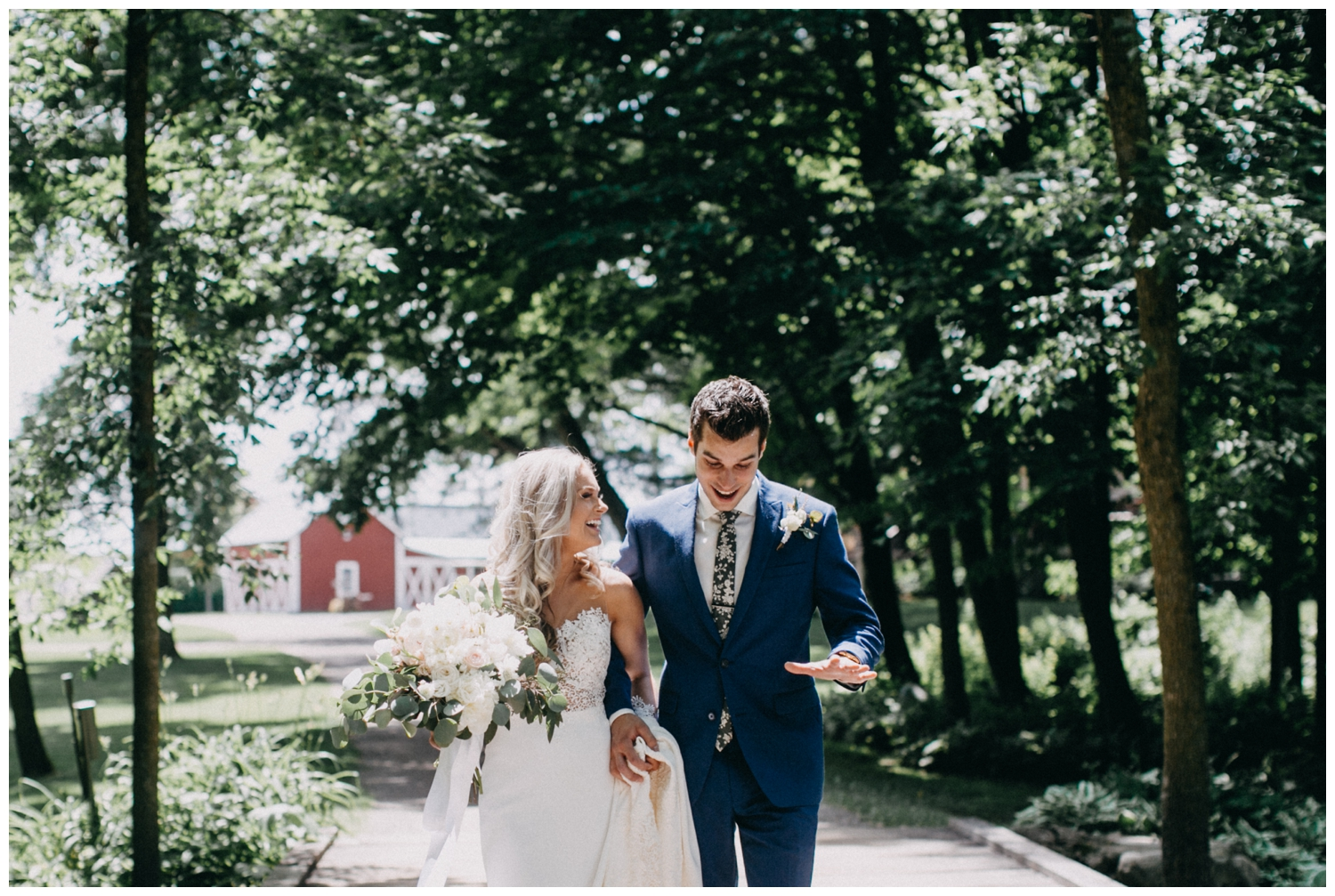 Candid wedding photography at Creekside Farm wedding