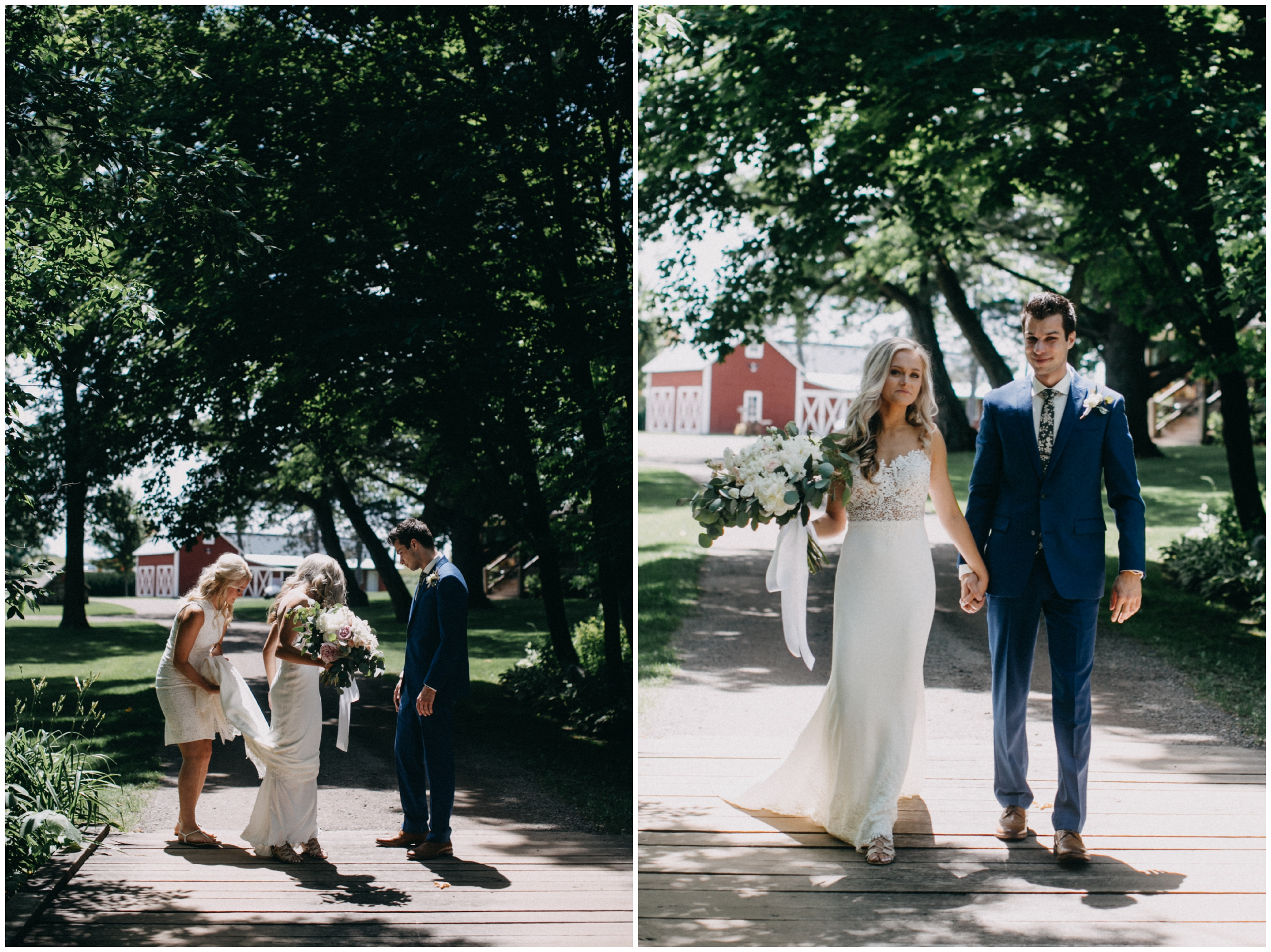 Sunny July wedding at Creekside Farm in Rush City, MN