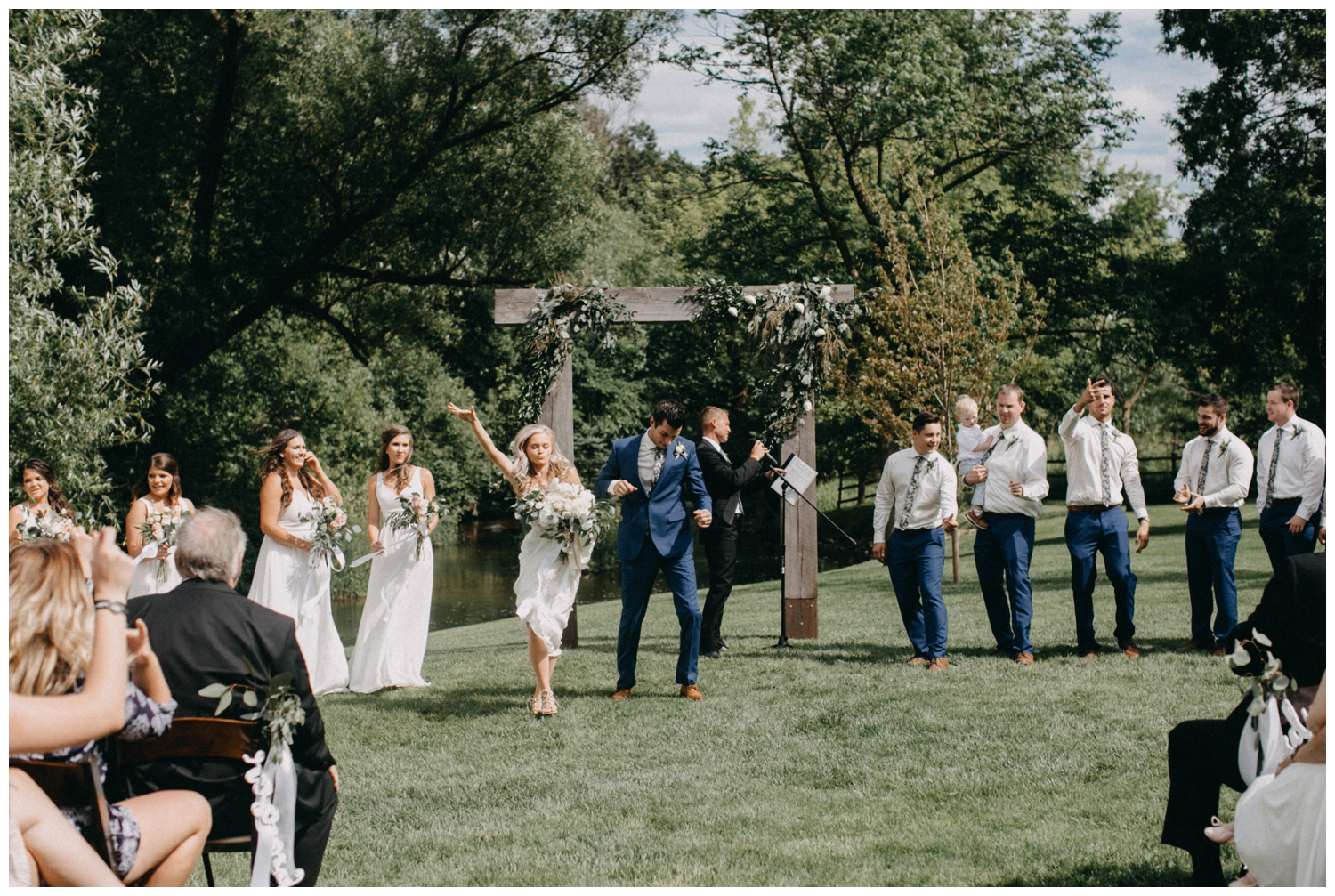 Casual and fun wedding at Creekside Farm in Rush City, MN