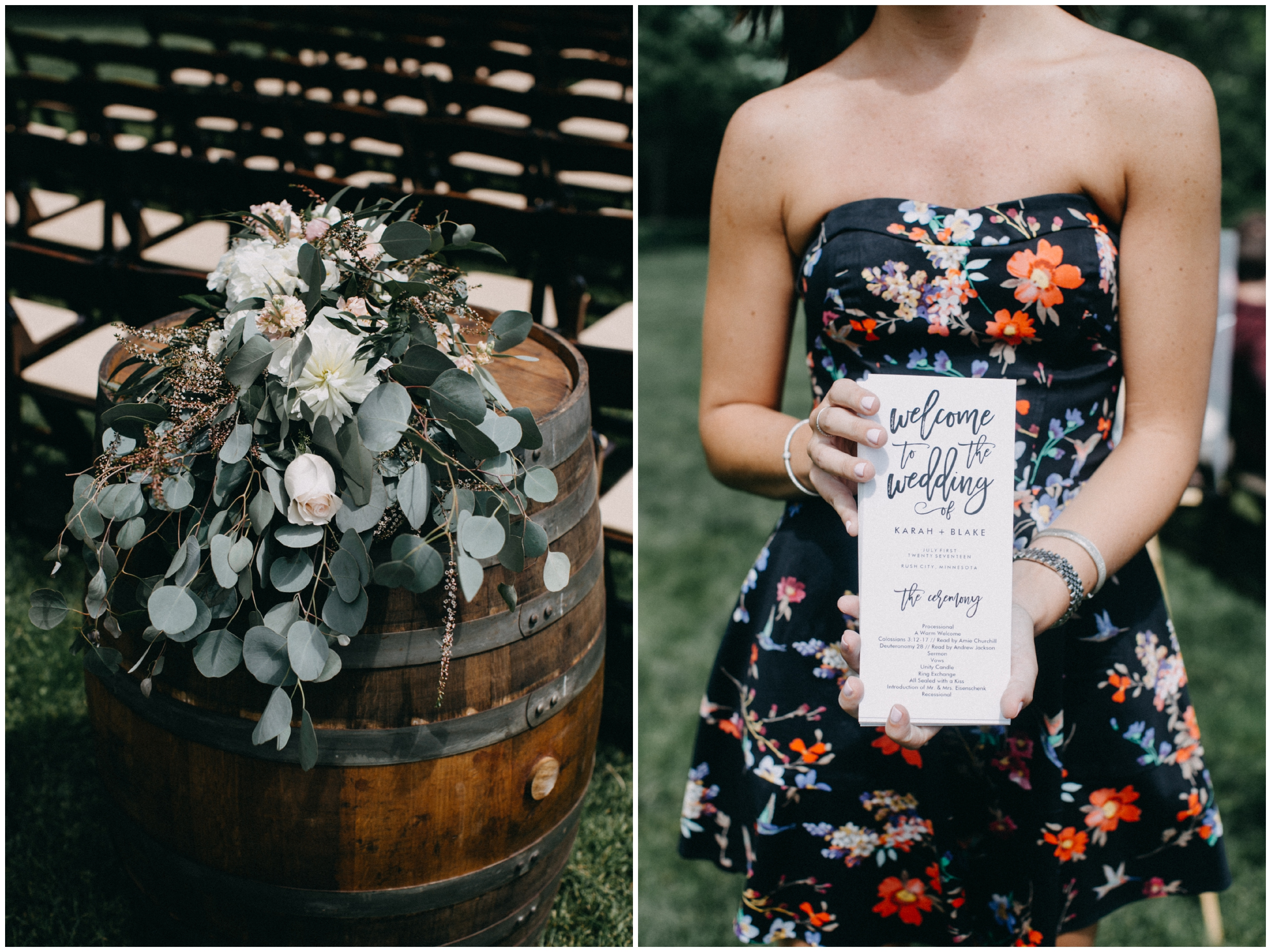 Modern and elegant barn wedding at Creekside Farm