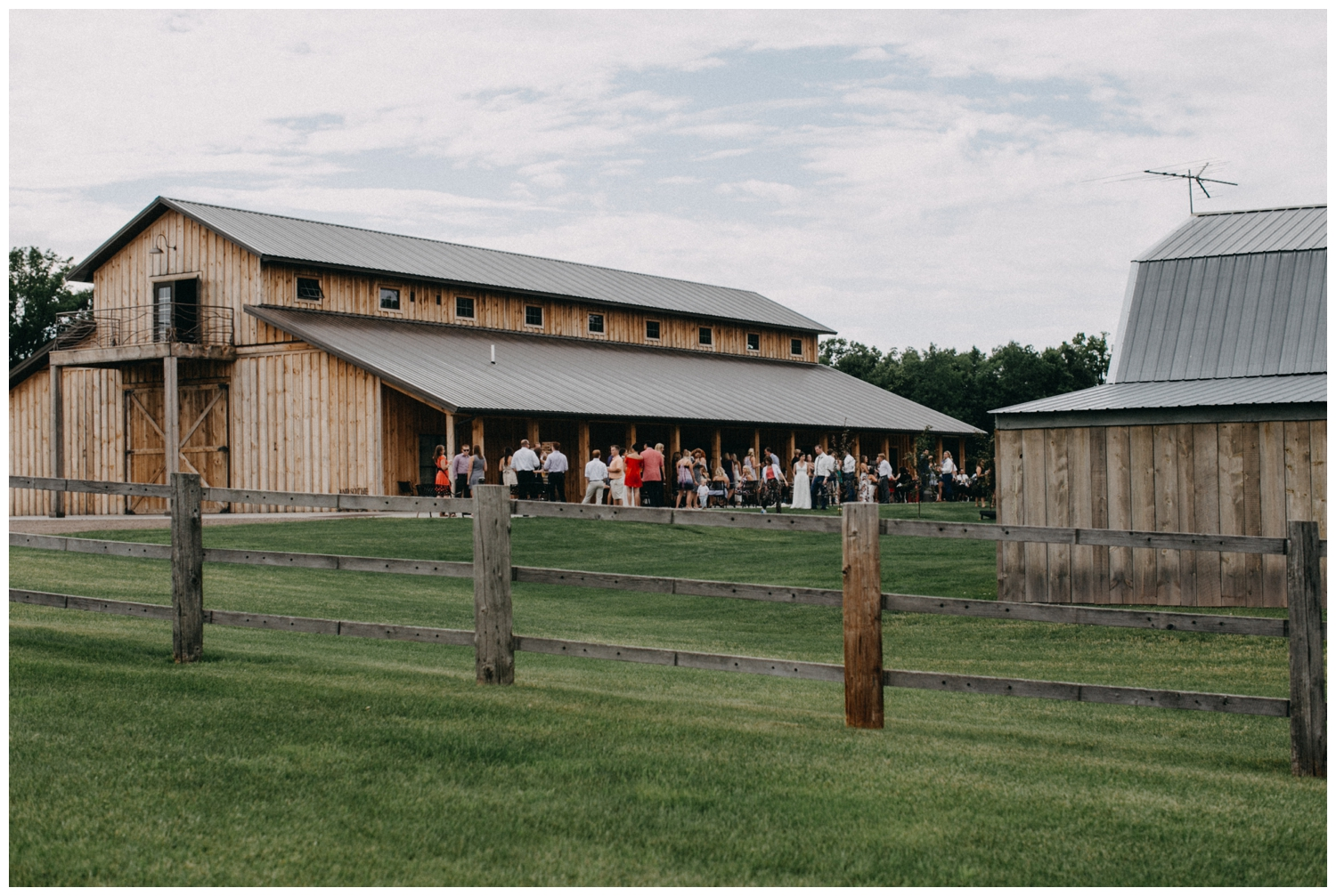 Barn wedding reception at Creekside Farm in Rush City, Minnesota