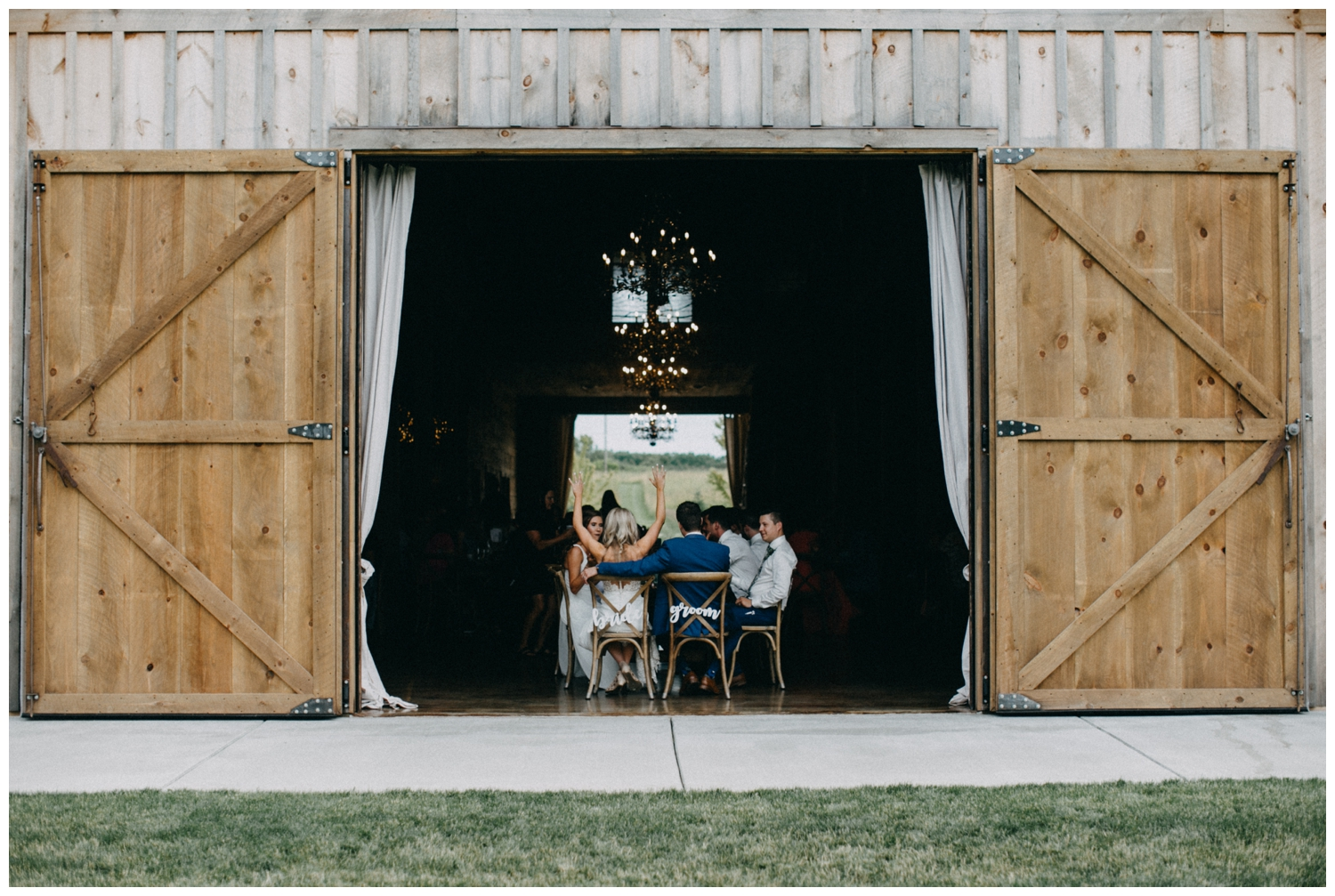 Elegant barn wedding reception at Creekside Farm in Rush City, MN
