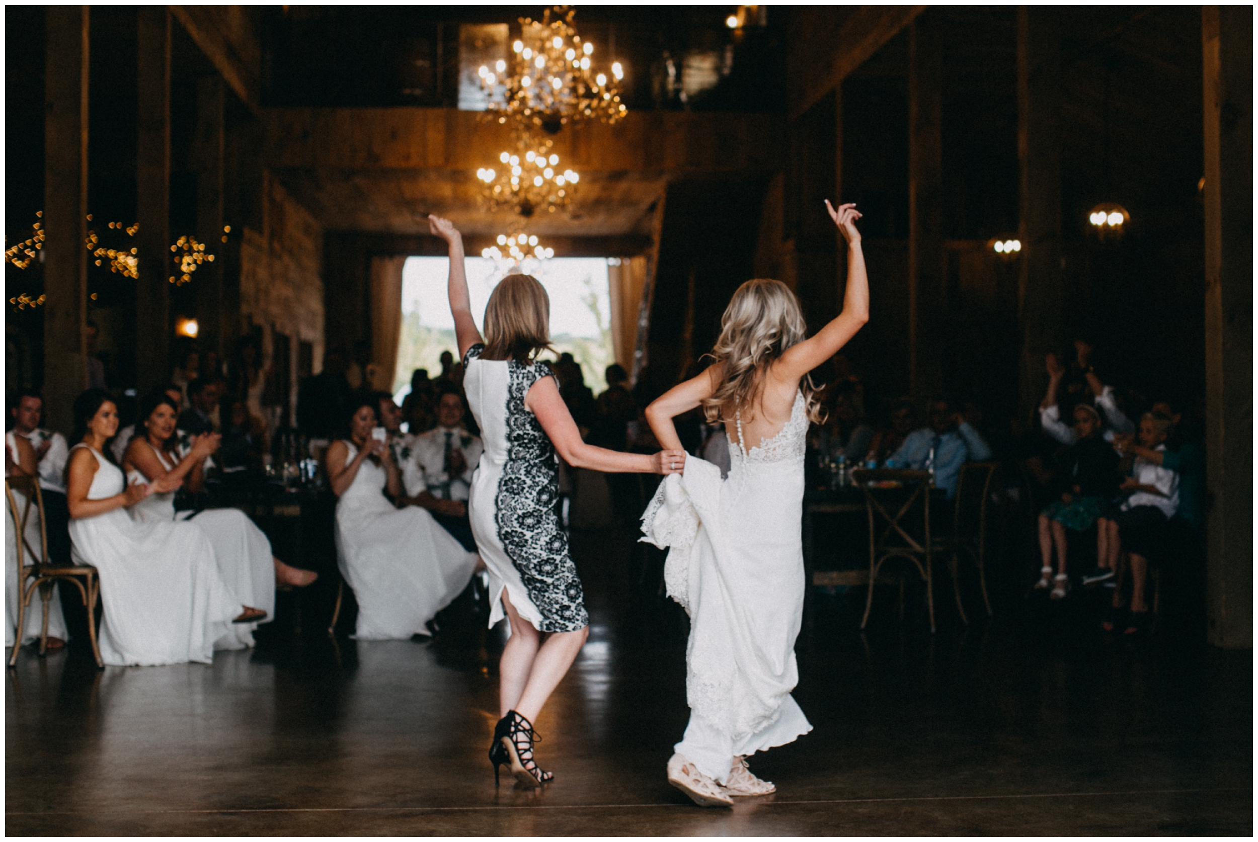 Bride dancing with mom at Creekside Farm wedding