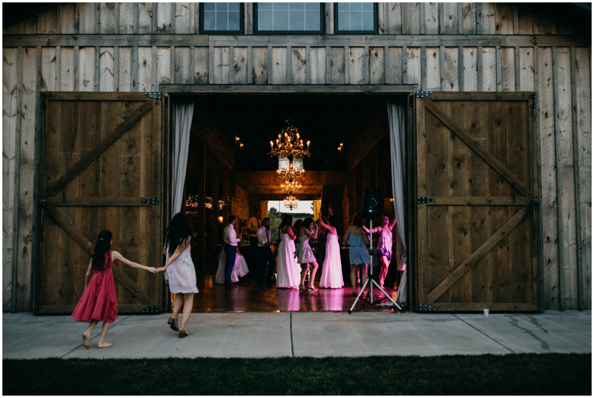 Barn wedding dance at Creekside Farm