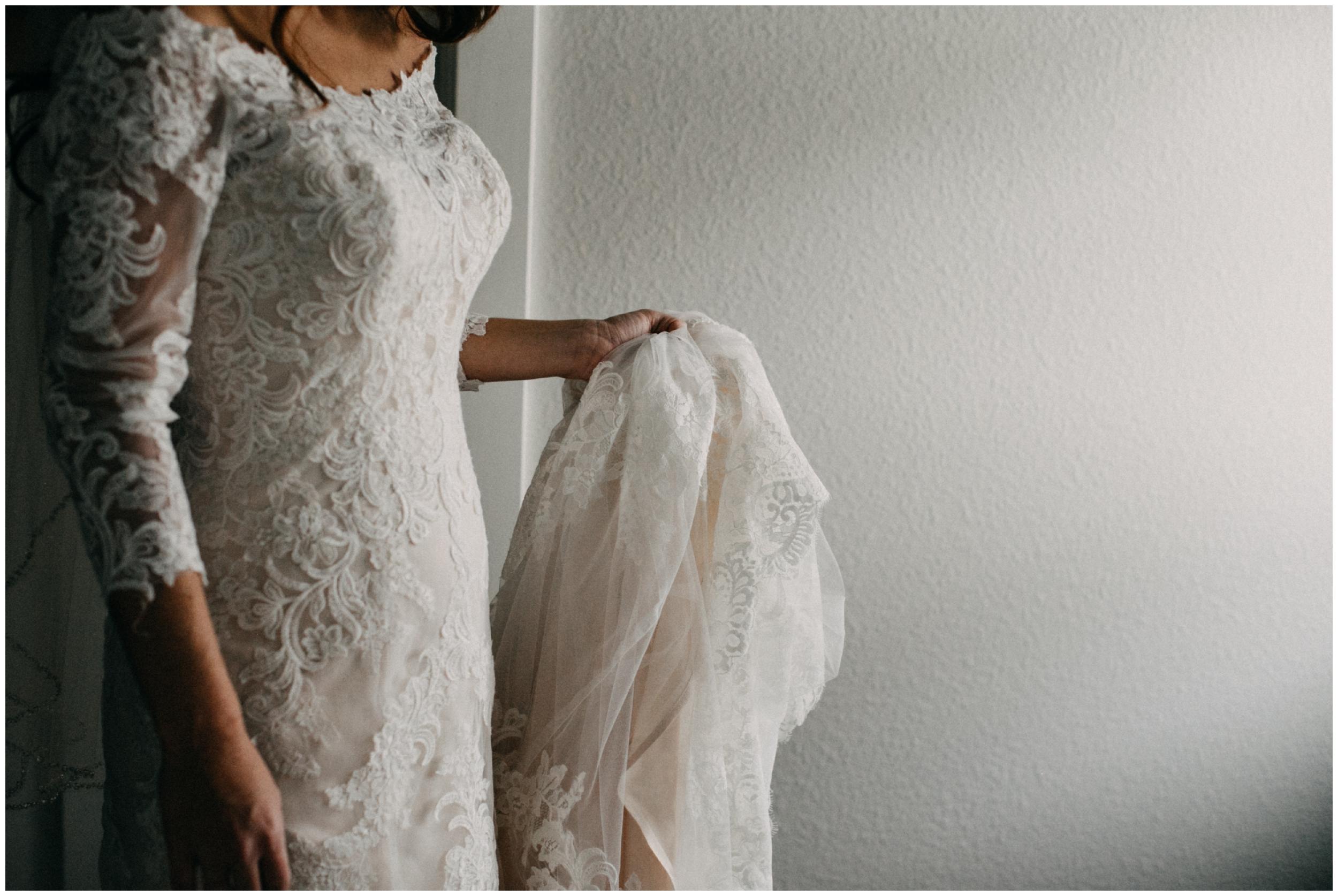 Modern bridal portrait at Quartdeck wedding on Gull Lake in Brainerd Minnesota