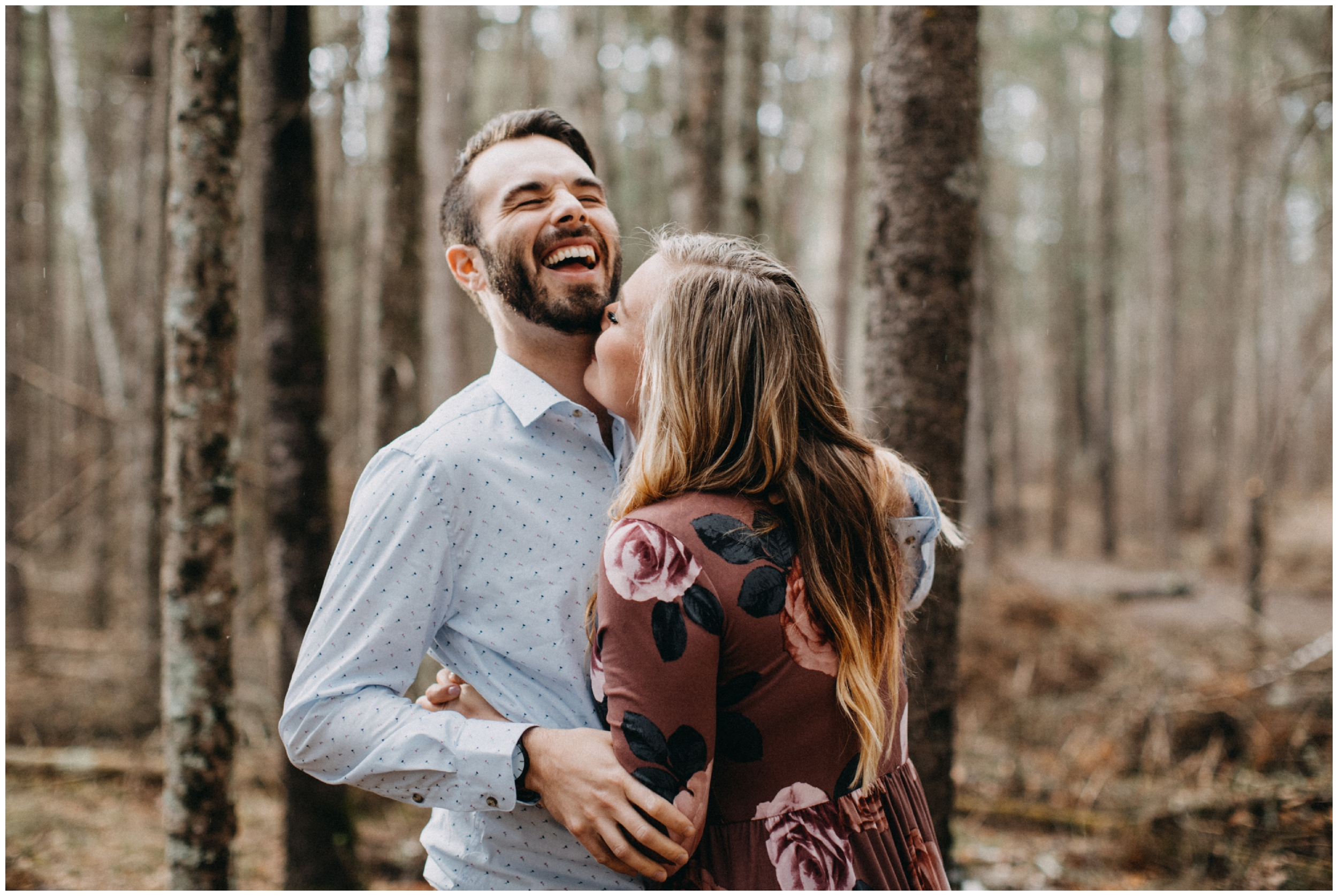 Woodsy engagement session at Fritz Loven Park in Brainerd Minnesota