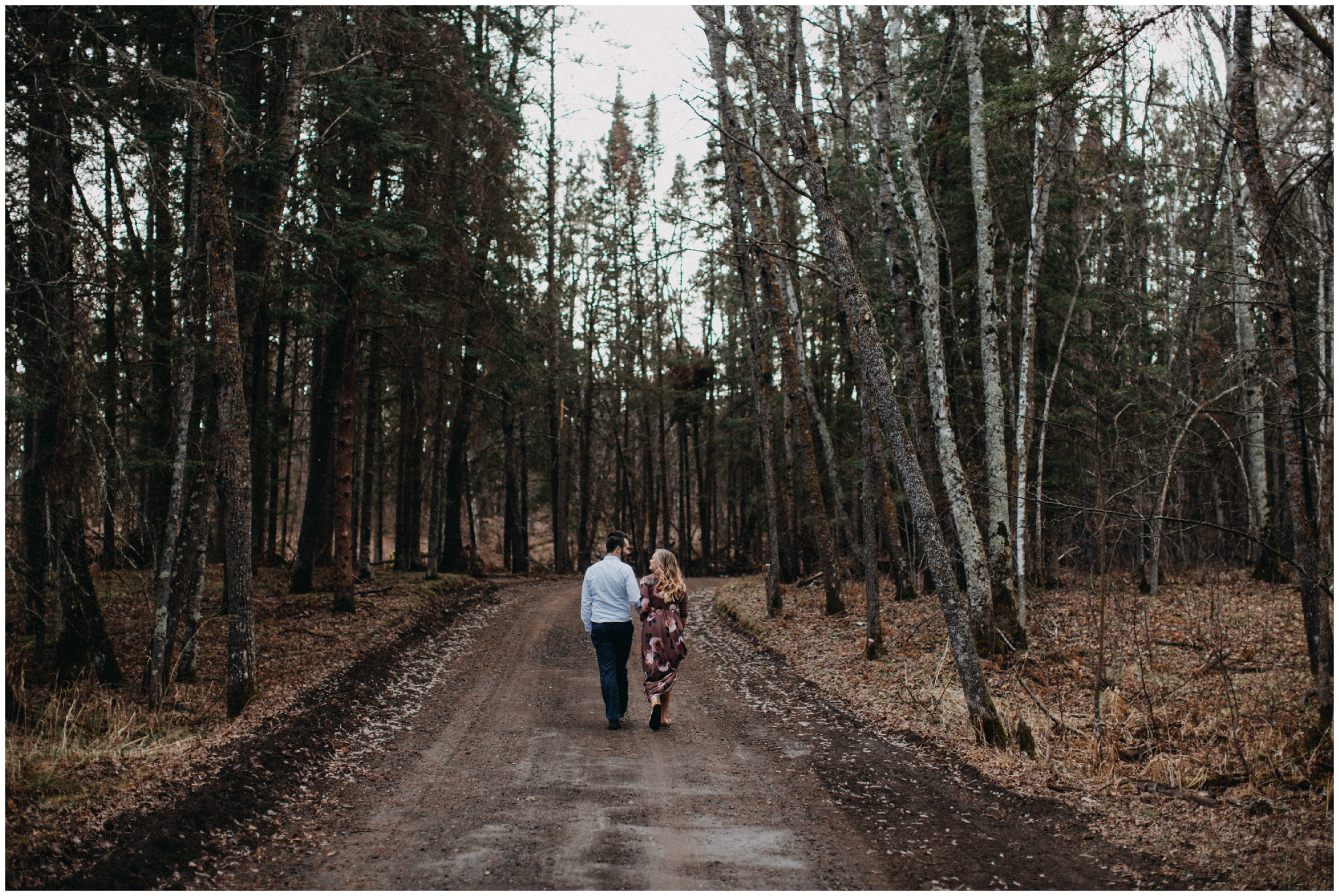 A northern Minnesota engagement session in the woods at Fritz Loven Park