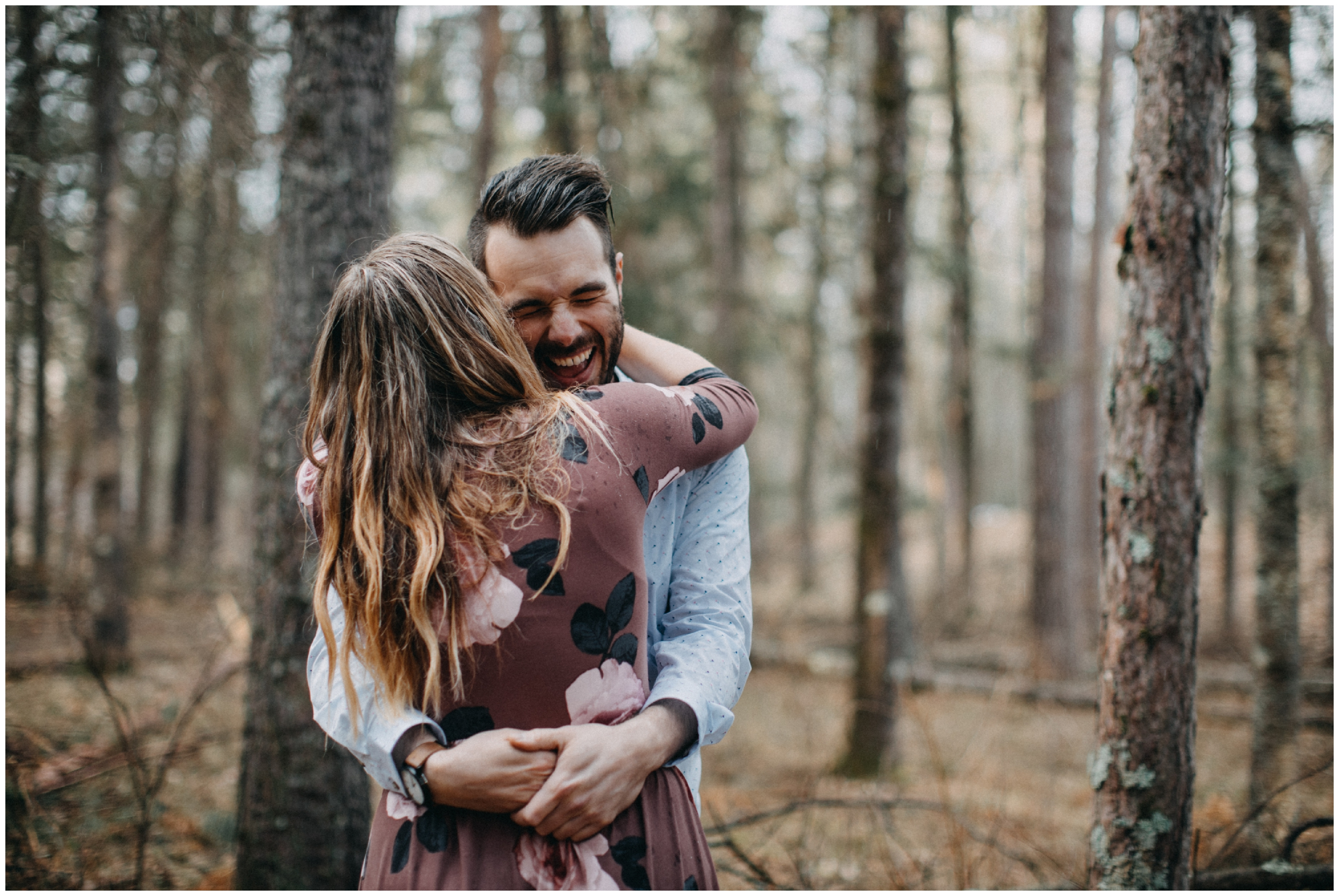 Candid engagement session at Fritz Loven Park in Brainerd Minnesota
