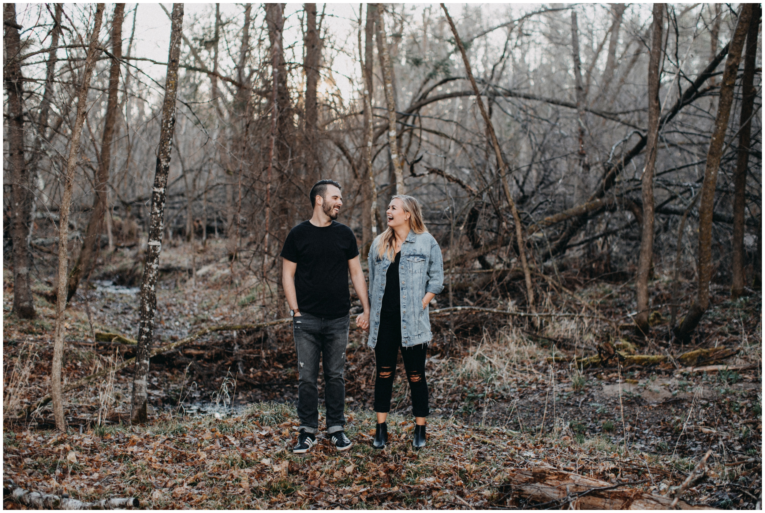 Documentary style engagement photography in Brainerd Minnesota