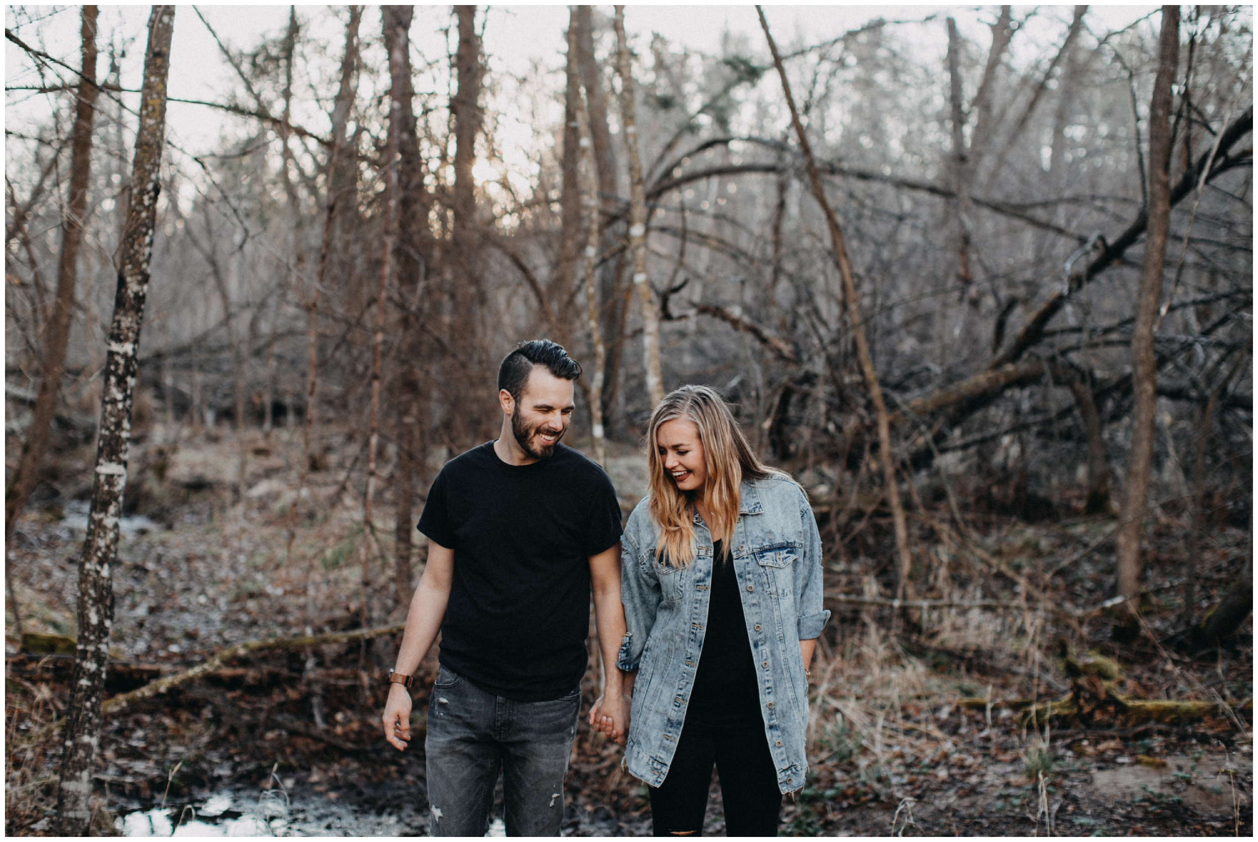 Non-traditional engagement photography at Fritz Loven Park